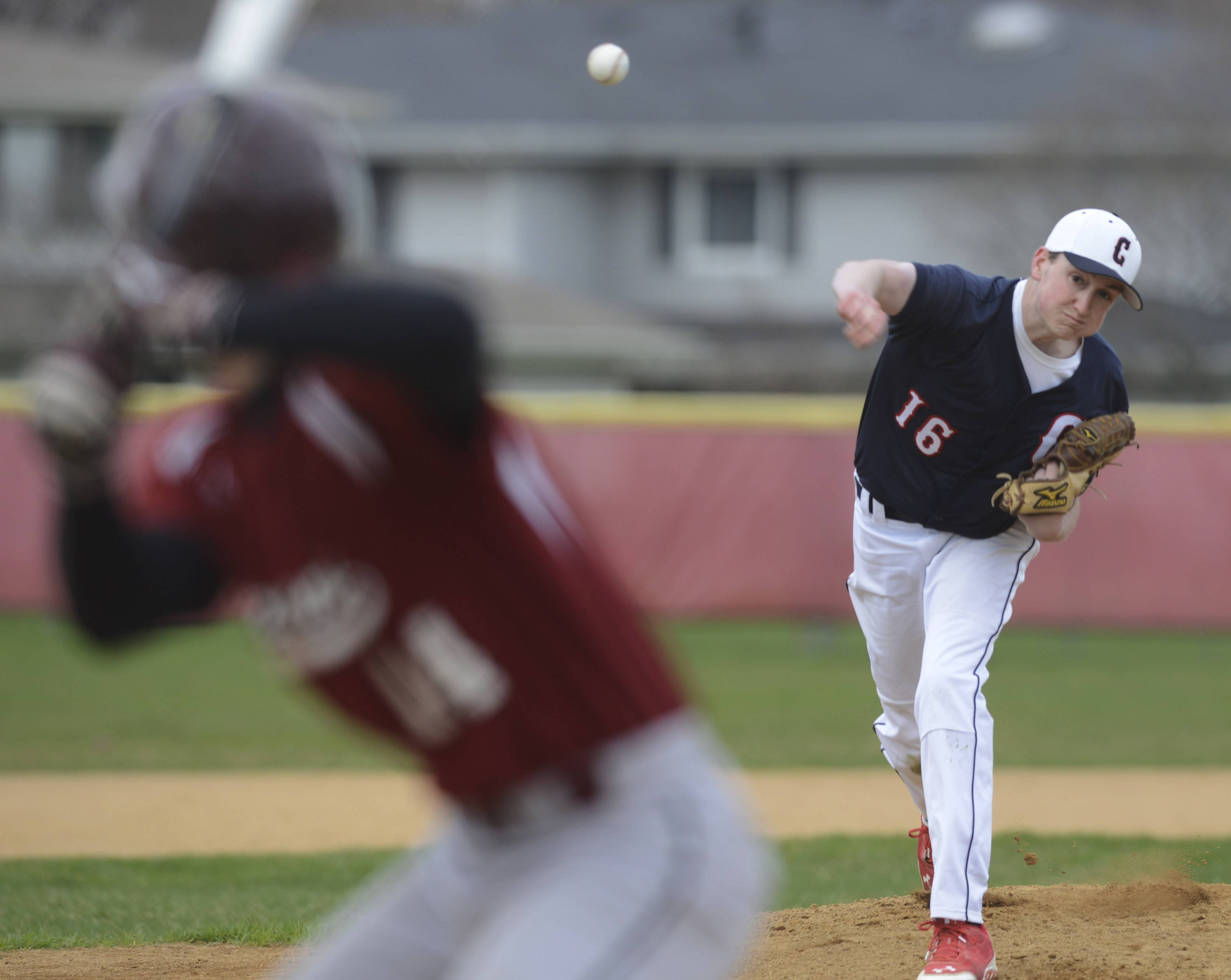 Conant pitcher Luke Downey delivers a pitch during Wednesday's game at Schaumburg.