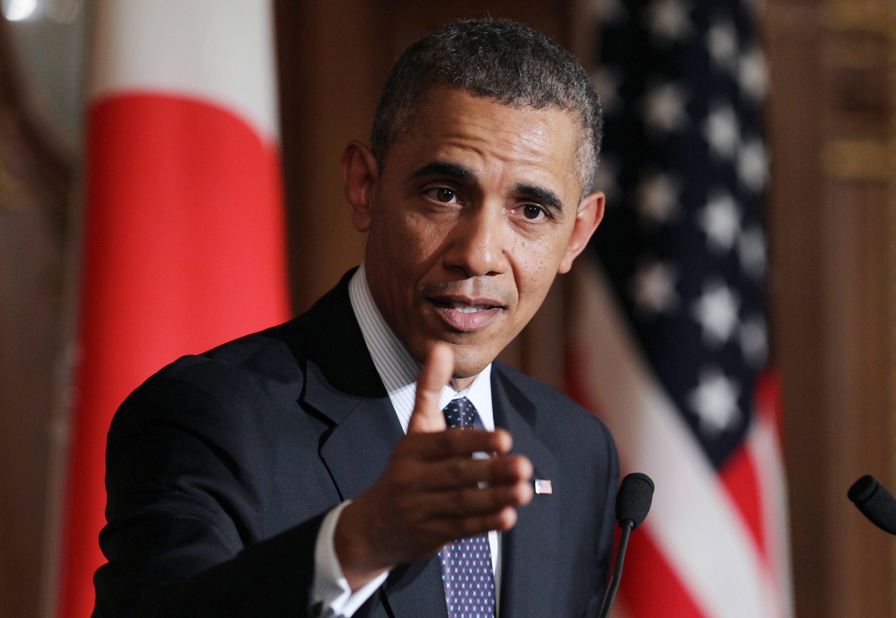 U.S. President Barack Obama said the U.S. and its allies have additional sanctions against Russia ready to go as the crisis in Ukraine continues to escalate.