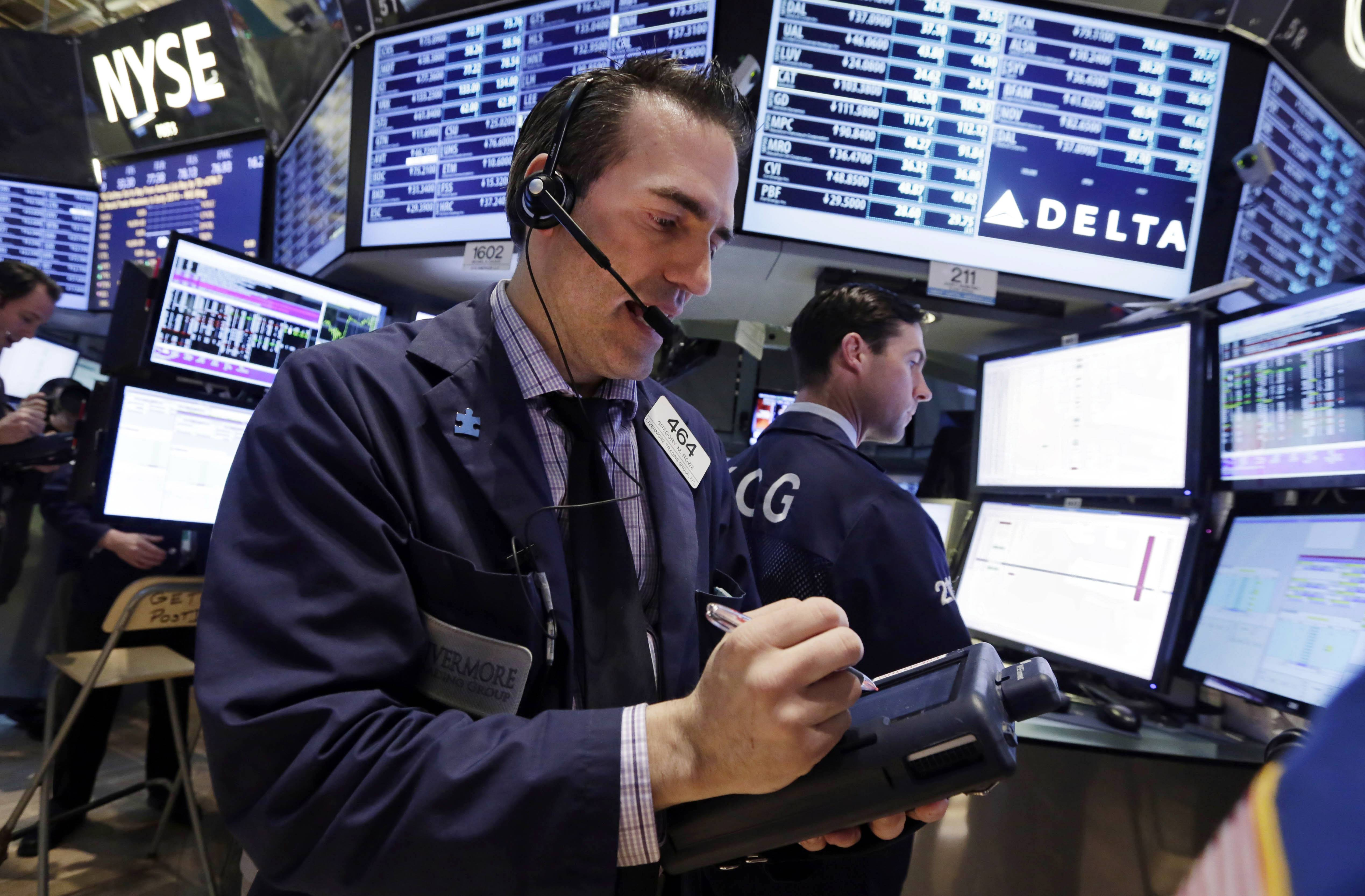 Stocks rose Thursday, with the Standard & Poor's 500 Index trading near a record, as technology companies rallied after Apple results topped estimates to offset a slump in phone shares.