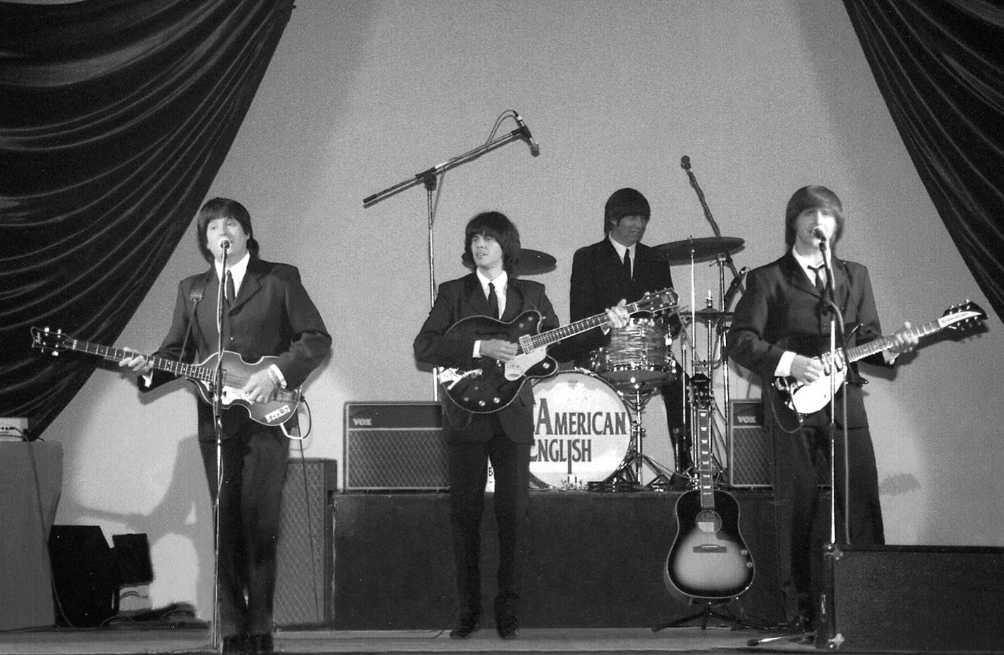 Beatles tribute band American English will play in Palatine this weekend.