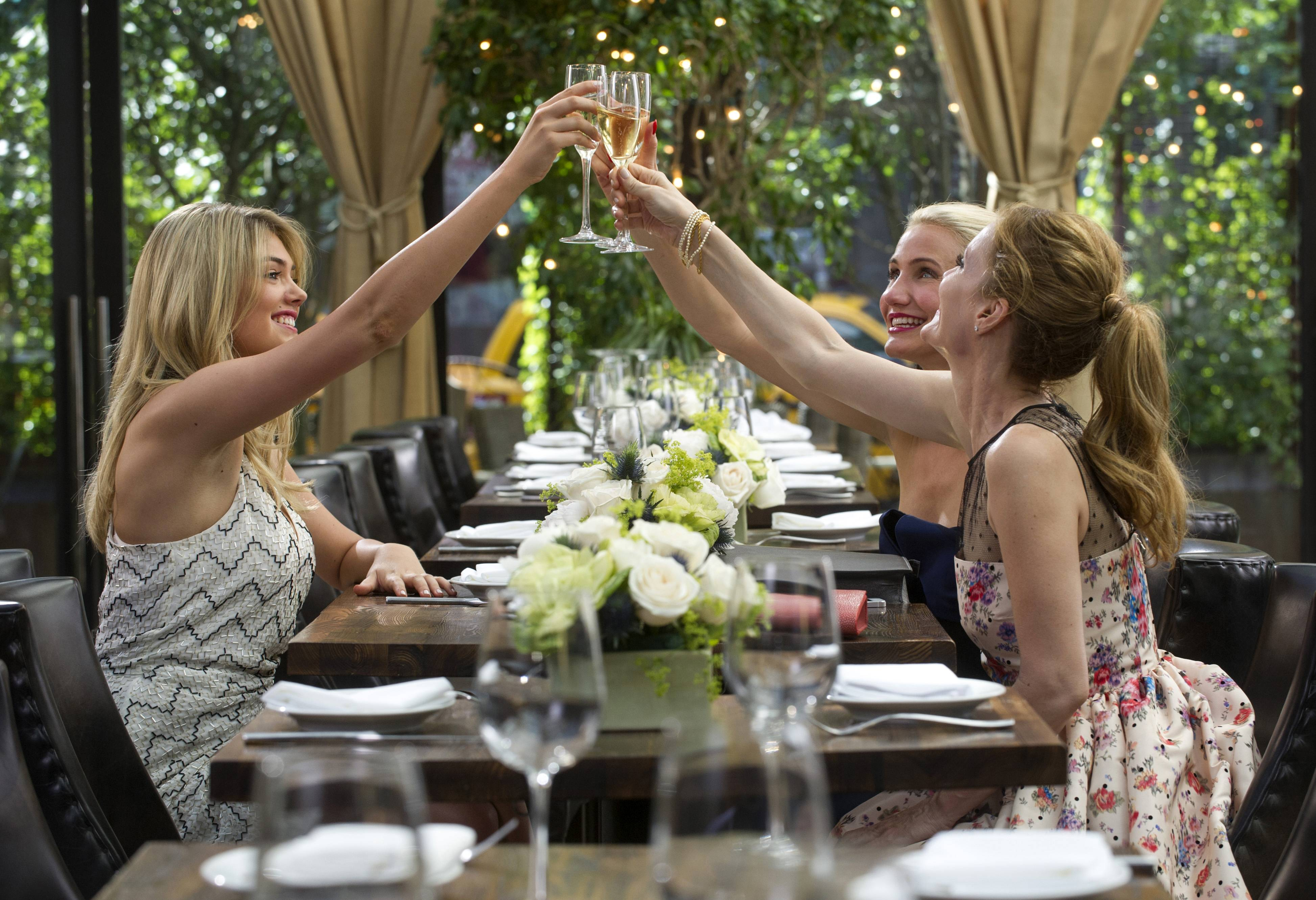 "Amber (Kate Upton, left), Carly (Cameron Diaz) and Kate (Leslie Mann) join forces in ""The Other Woman."""