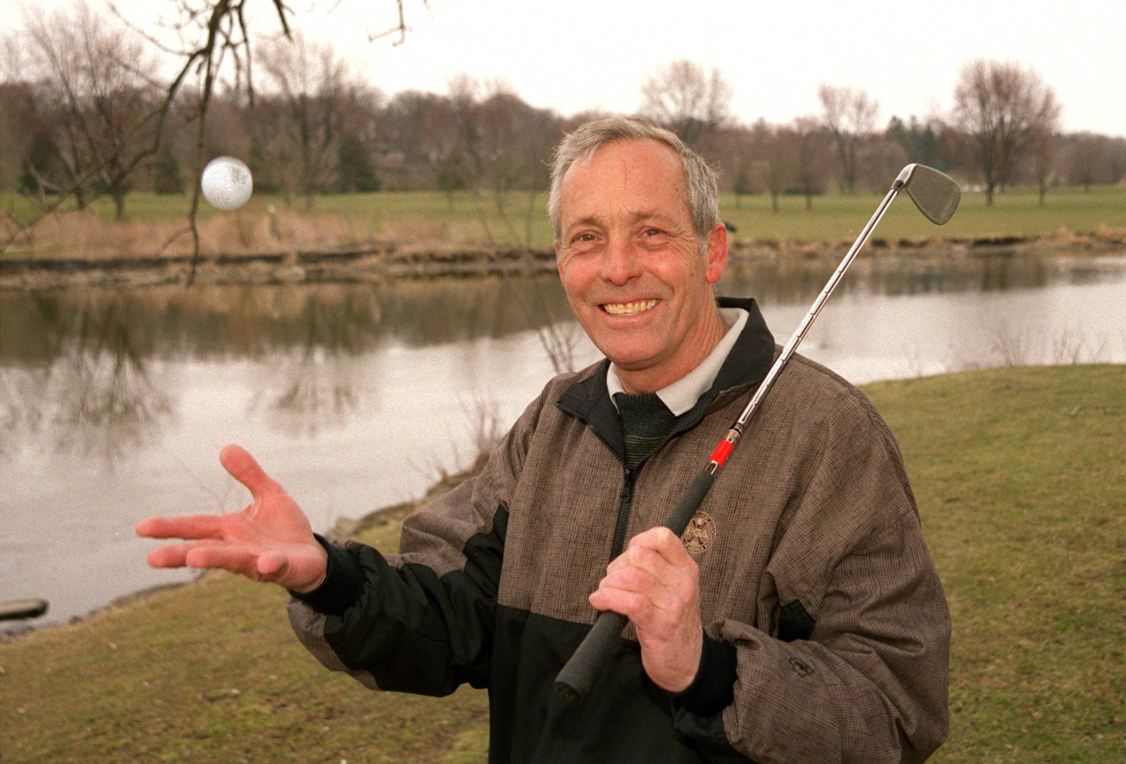 Jim Wheeler marked 24 years at Pottawatomie Golf Course in this photo taken at the 3rd hole.