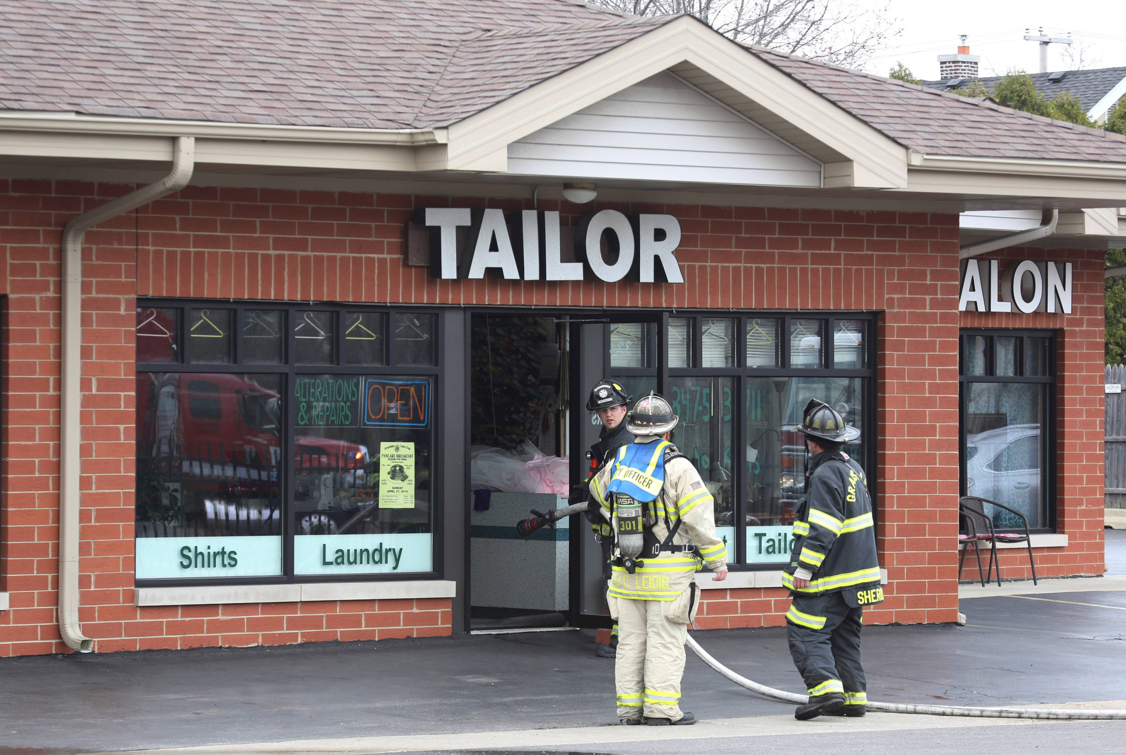 Fire department crews responded to what was first called a chemical spill at A1 Cleaners on Belvidere Road in Grayslake, but no chemical danger was found.