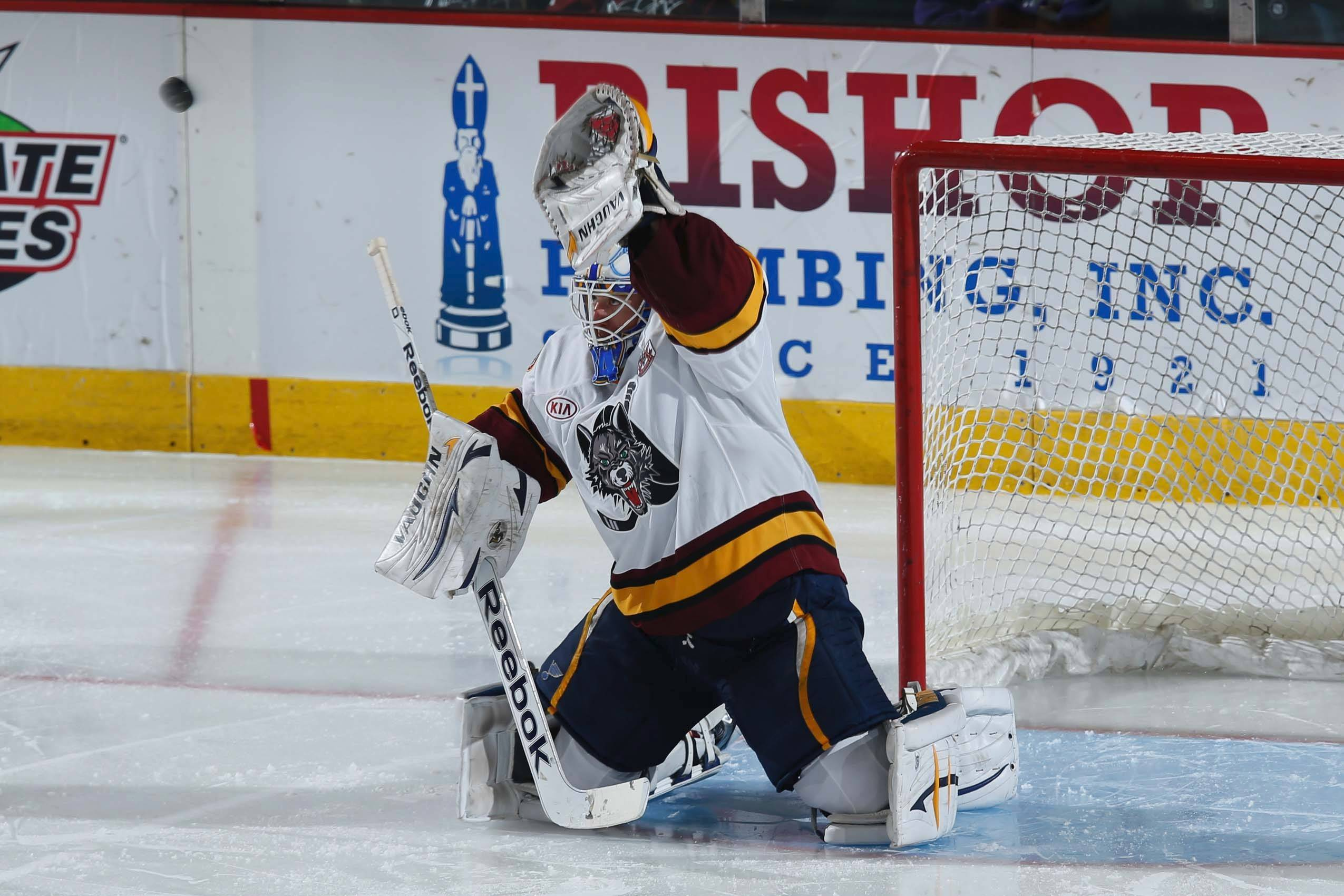 Chicago Wolves goaltender Jake Allen finished No. 1 in each of the top three categories among AHL goalies.