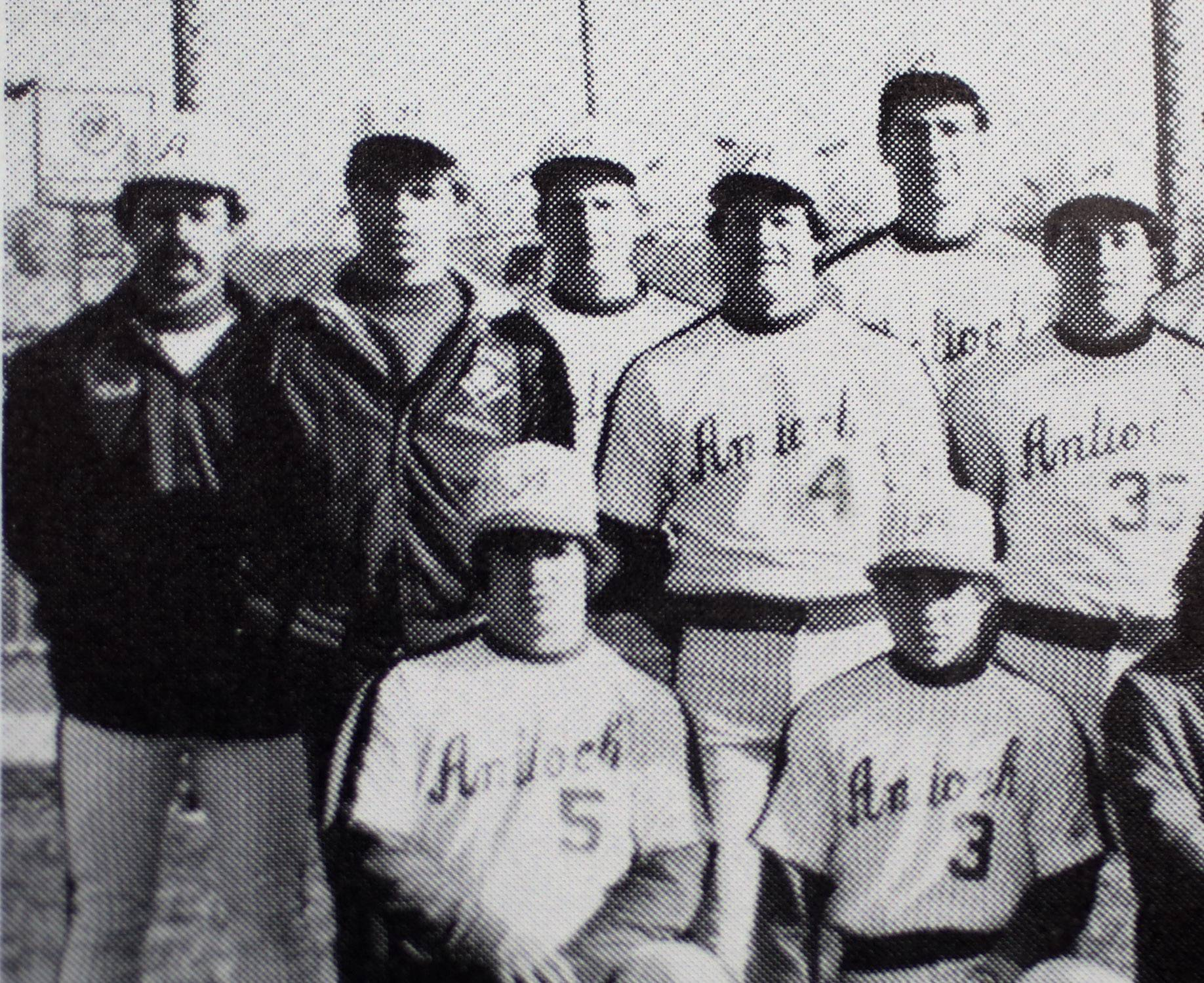 Gilbert R. Boucher II/gboucher@dailyherald.comA team picture of Craig Prather (4) and coach Paul Petty, far left, on the baseball team at Antioch. Prather's son Collin currently plays baseball for Petty at Antioch.