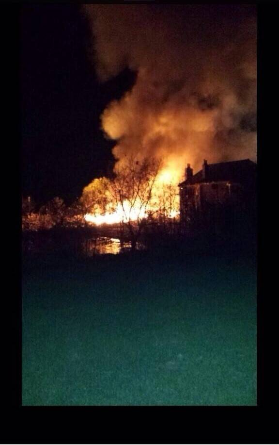 A house exploded late Friday night in the Long Grove area near the 14th fairway of the Royal Melbourne Country Club.