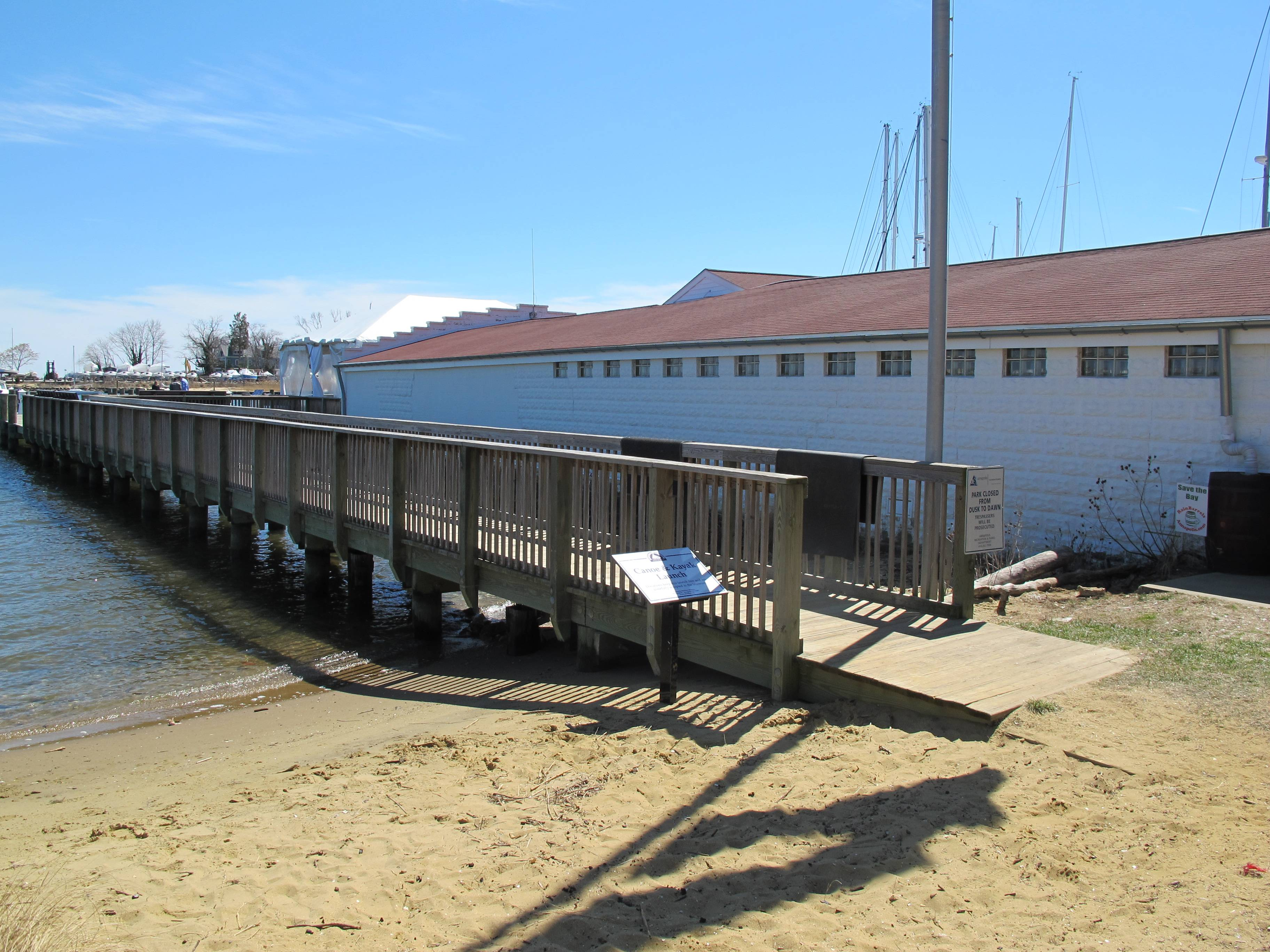 The Annapolis Maritime Museum includes a place for people to launch kayaks and canoes.