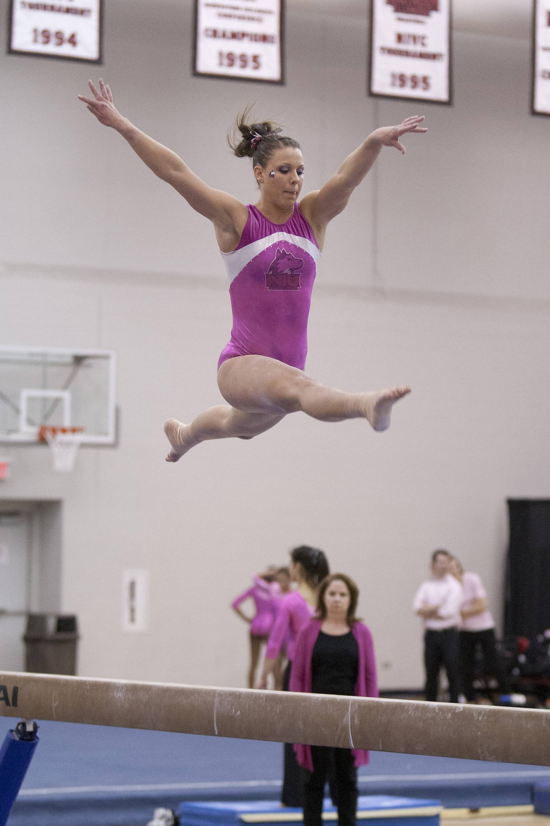 Photo courtesy of NIU AthleticsNorthern Illinois all-around gymnast Kim Gotlund, a Warren High School grad, finished her career with several school records.
