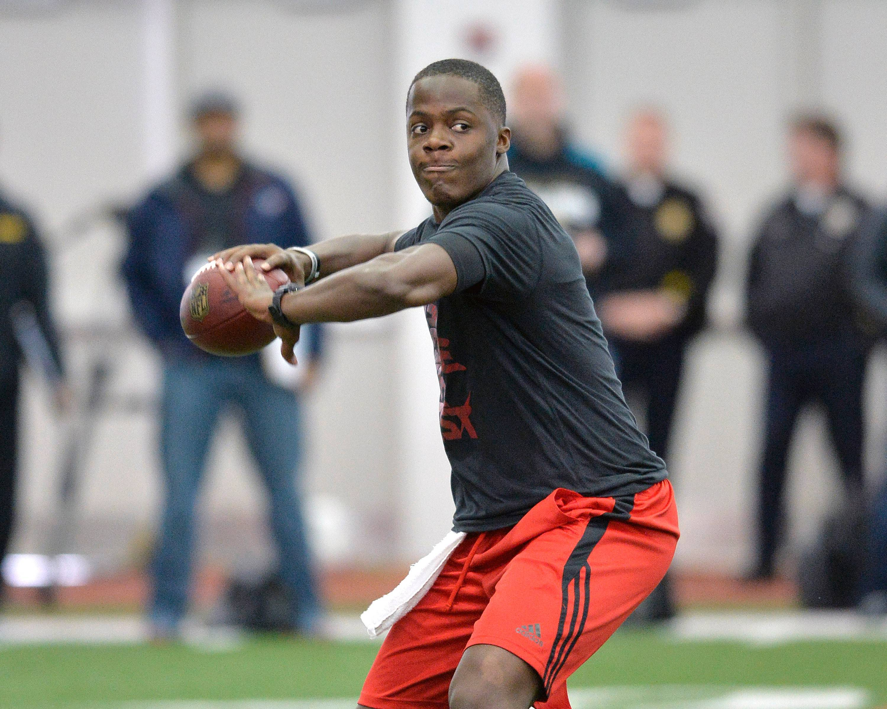 Louisville quarterback Teddy Bridgewater (6-2⅛, 214). Bob LeGere's quick take: Lacks some arm strength and bulk, but he's a gamer who is physically and mentally tough.