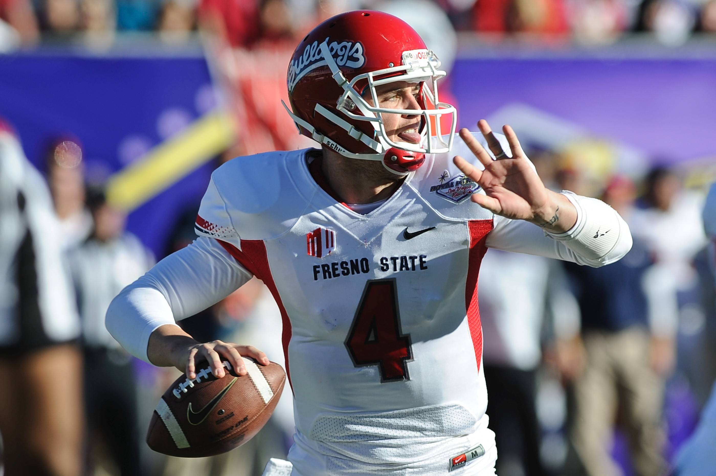 Fresno State quarterback Derek Carr 6-2⅜, 214). Bob LeGere's quick take: Excellent intangibles and NFL blood lines but he appears to be prone to mechanical breakdowns.