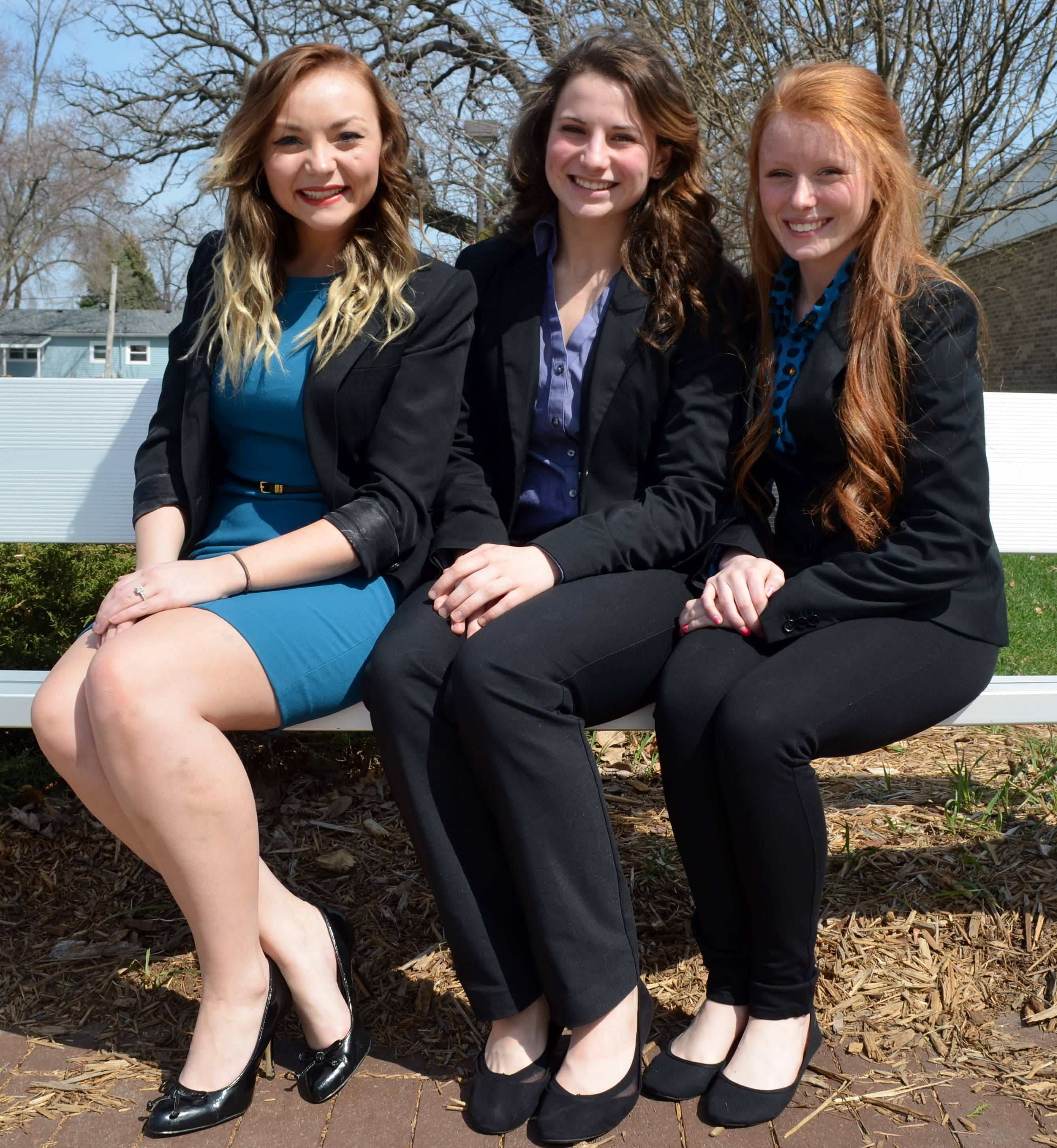 Sarah Ulrich (Left), Lexi Meyer (Middle), Emily Holmes (Right)Mia Ashley
