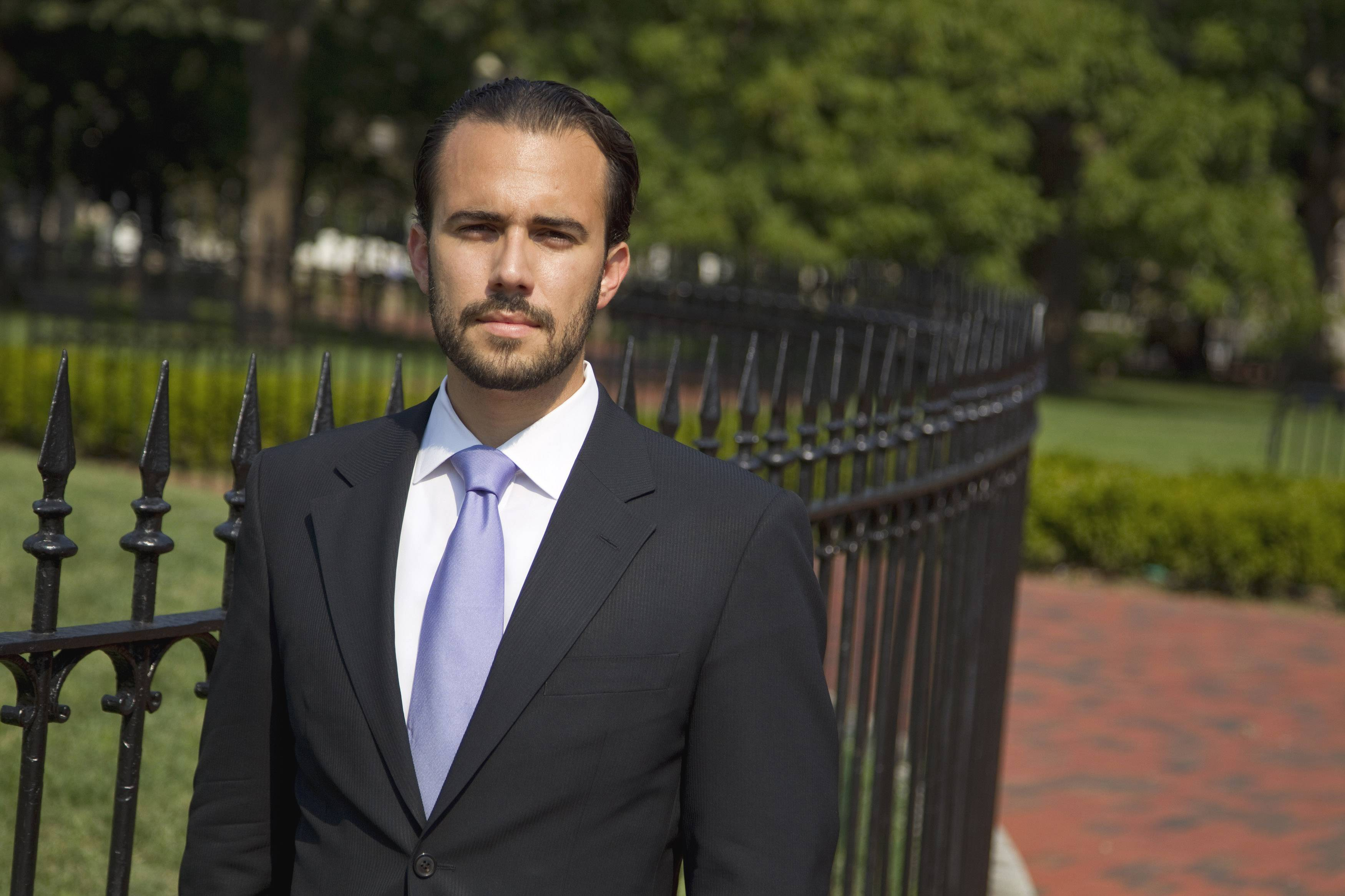 "Felice Gorordo, co-founder of Roots of Hope, is photographed in Lafayette Square near the White House in Washington. Leaders with the largest nonprofit organization for young Cuban-Americans quietly provided strategic support for the federal government's secret ""Cuban Twitter"" program, connecting contractors with potential investors and even serving as paid consultants, The Associated Press has learned."