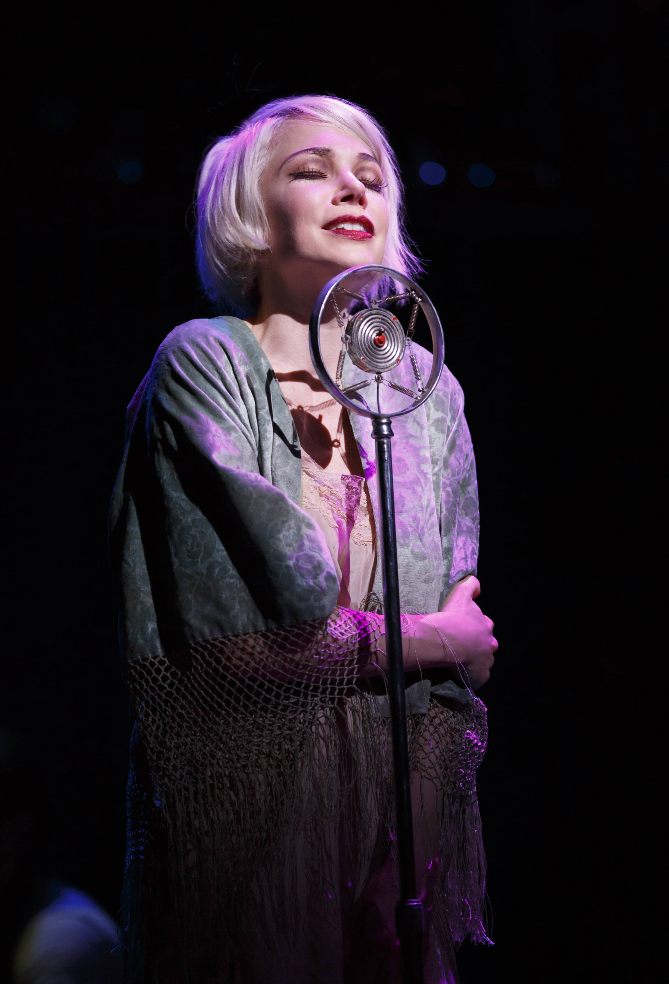 "Michelle Williams croons during a performance of ""Cabaret"" at Studio 54 in New York."