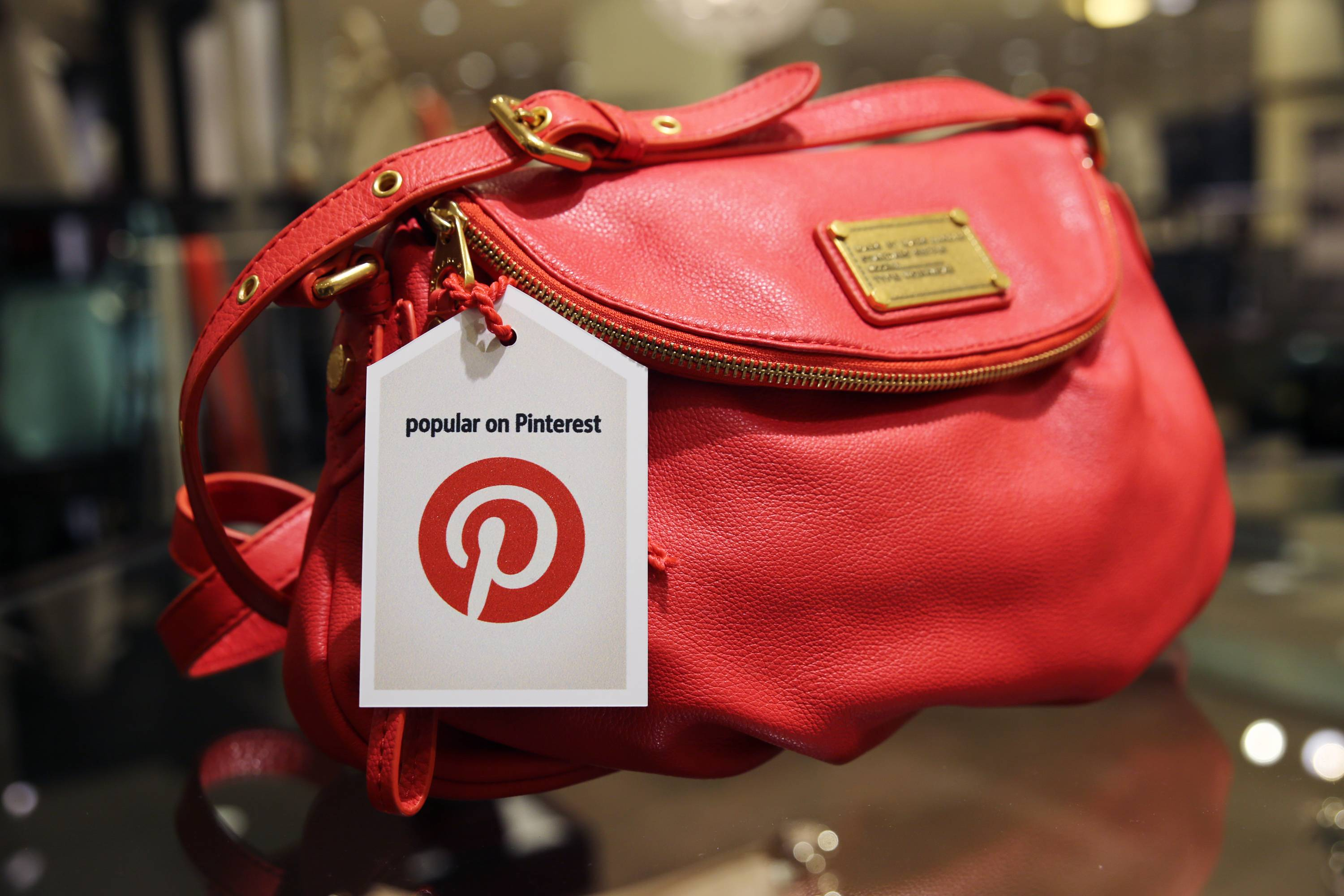 "A handbag made popular on Pinterest that is available at Nordstrom stores. Pinterest, a social media site that allows users to create collections of photos, articles, recipes, videos and other images that are called ""pins,"" is being used by big chains to draw business to their own sites."