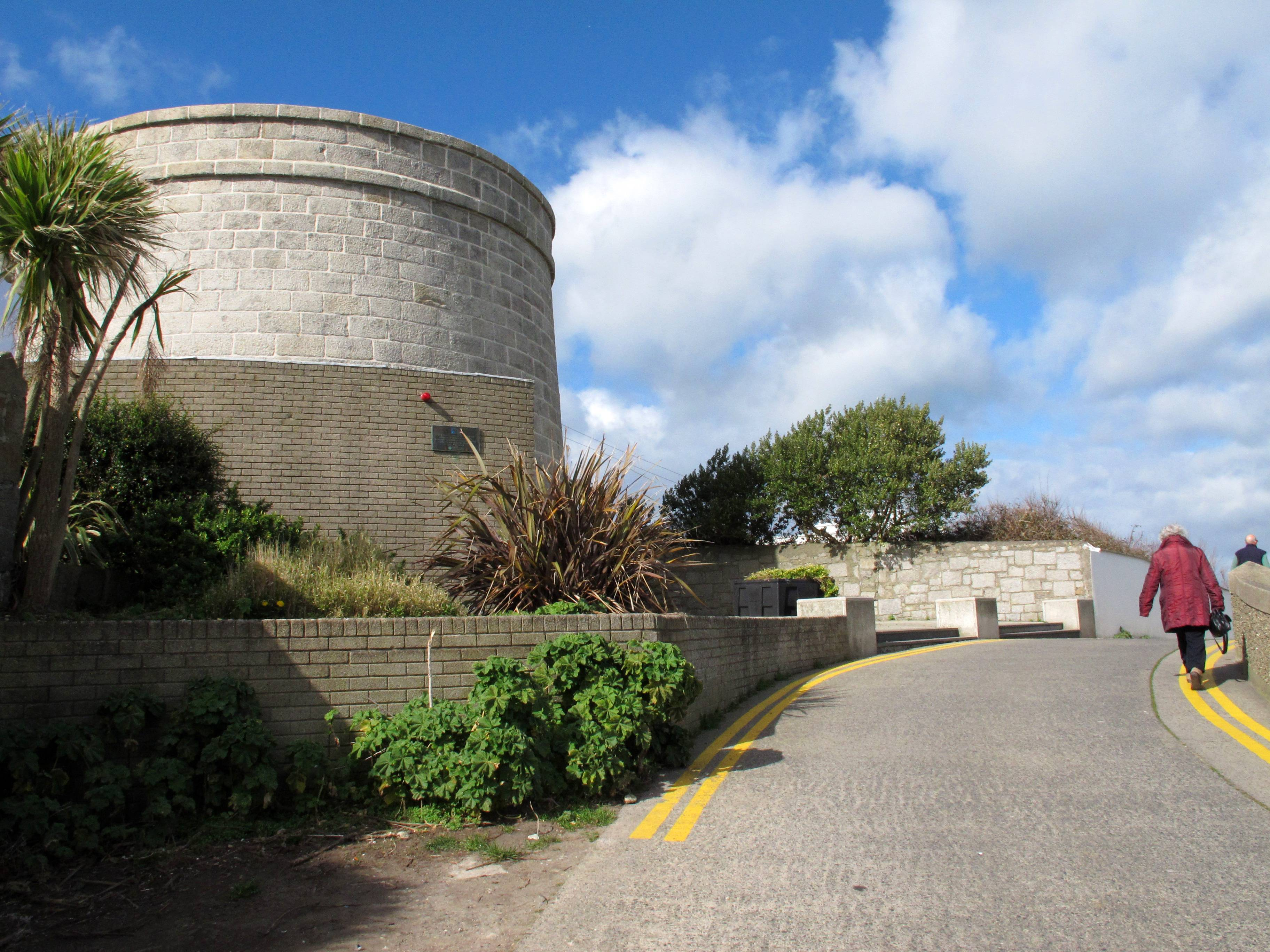 "The 19th-century Martello tower was one of a series built along the coast to withstand an invasion by Napoleon. James Joyce stayed here briefly and the gun platform, with its panoramic view of Dublin bay, as well as the living room, are preserved as he described them in ""Ulysses."""