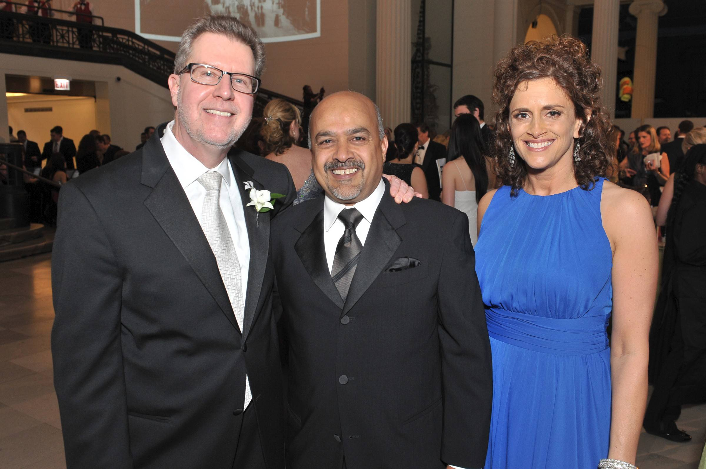 Mark Frey, Dr. Saif Nazir of Orland Park, who is also president of MEA division of TEAMHealth, one of the Diamond Sponsors for the Alexian Brothers Ball, and Melanie Furlan at the Ball de Fleur on Saturday.