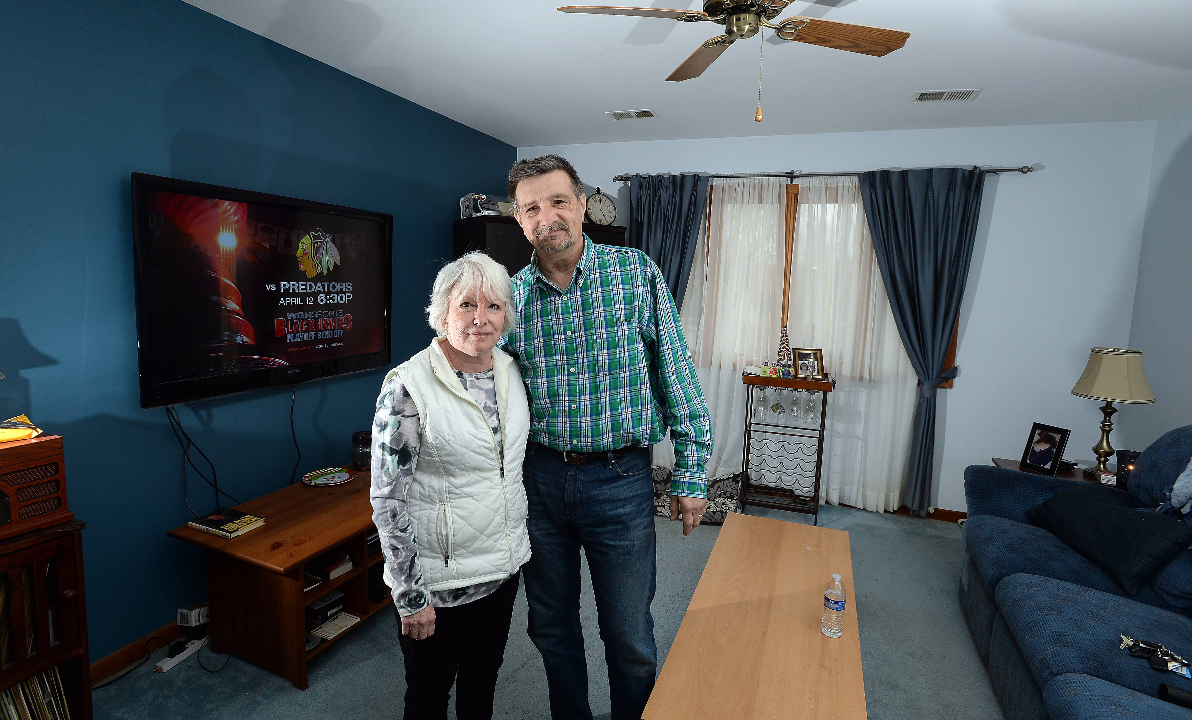 Robert and Patricia Pagni have their own upstairs living quarters in their daughter's Schaumburg home.