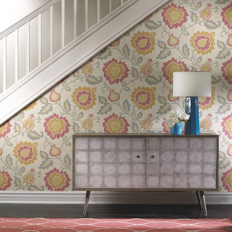 use wallpaper efficiently as an alternative to paint. Black Bedroom Furniture Sets. Home Design Ideas