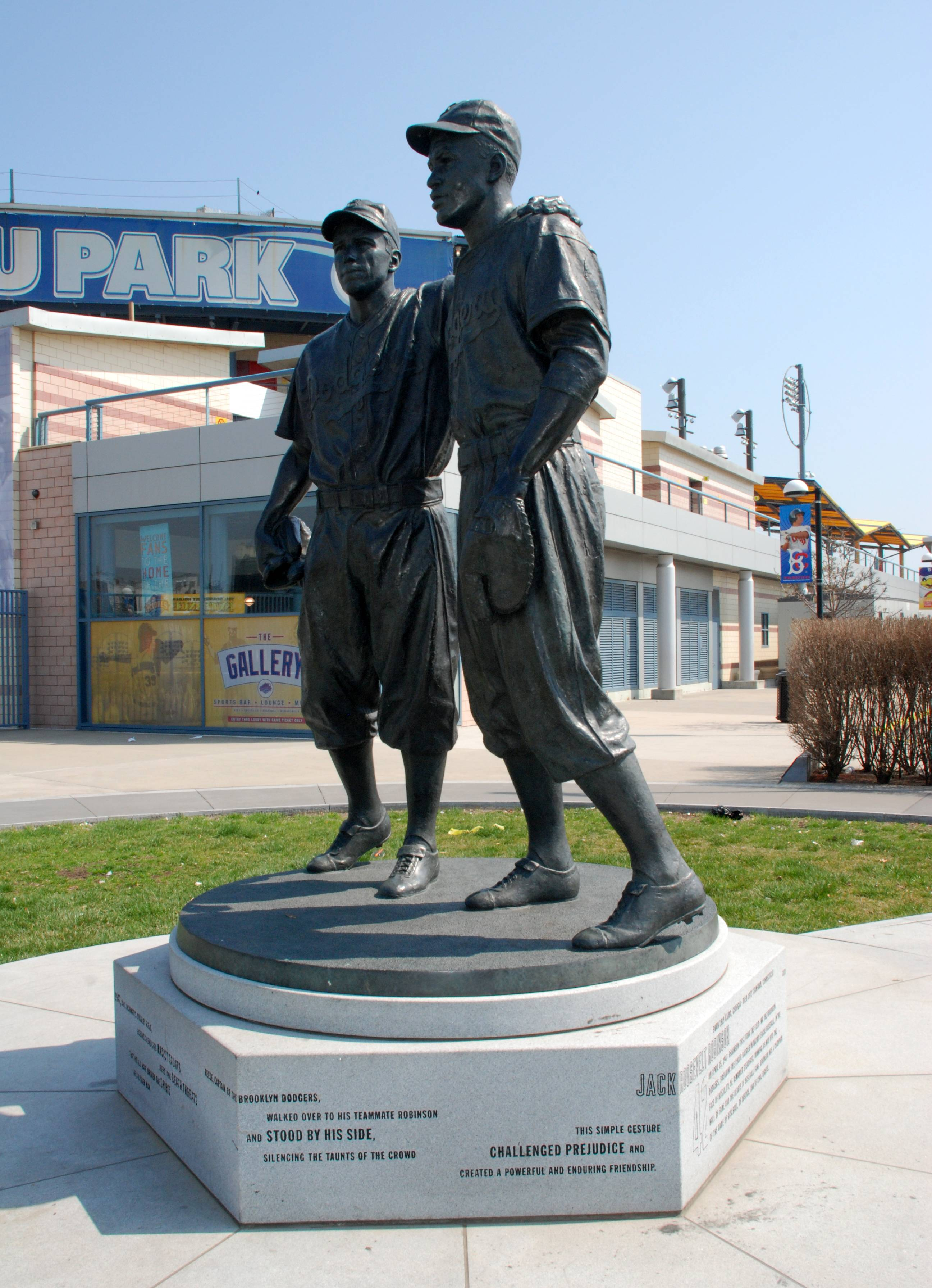 Visit a statue of Pee Wee Reese and Jackie Robinson at MCU Park in the Coney Island section of the Brooklyn borough of New York, where the minor league Cyclones team plays. There are many destinations of interest to baseball fans around the country outside ballparks, from museums and statues to historic homes.