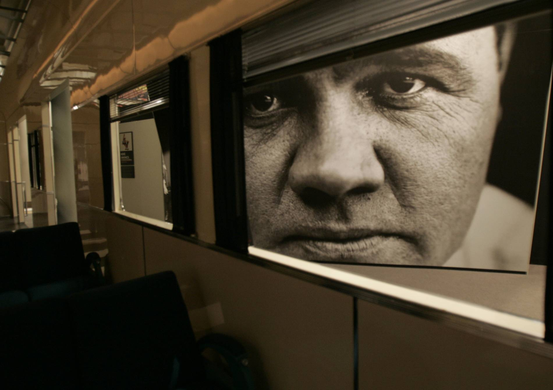 A large photograph of Babe Ruth was part of an exhibit at the Sports Legends at Camden Yards museum in Baltimore.
