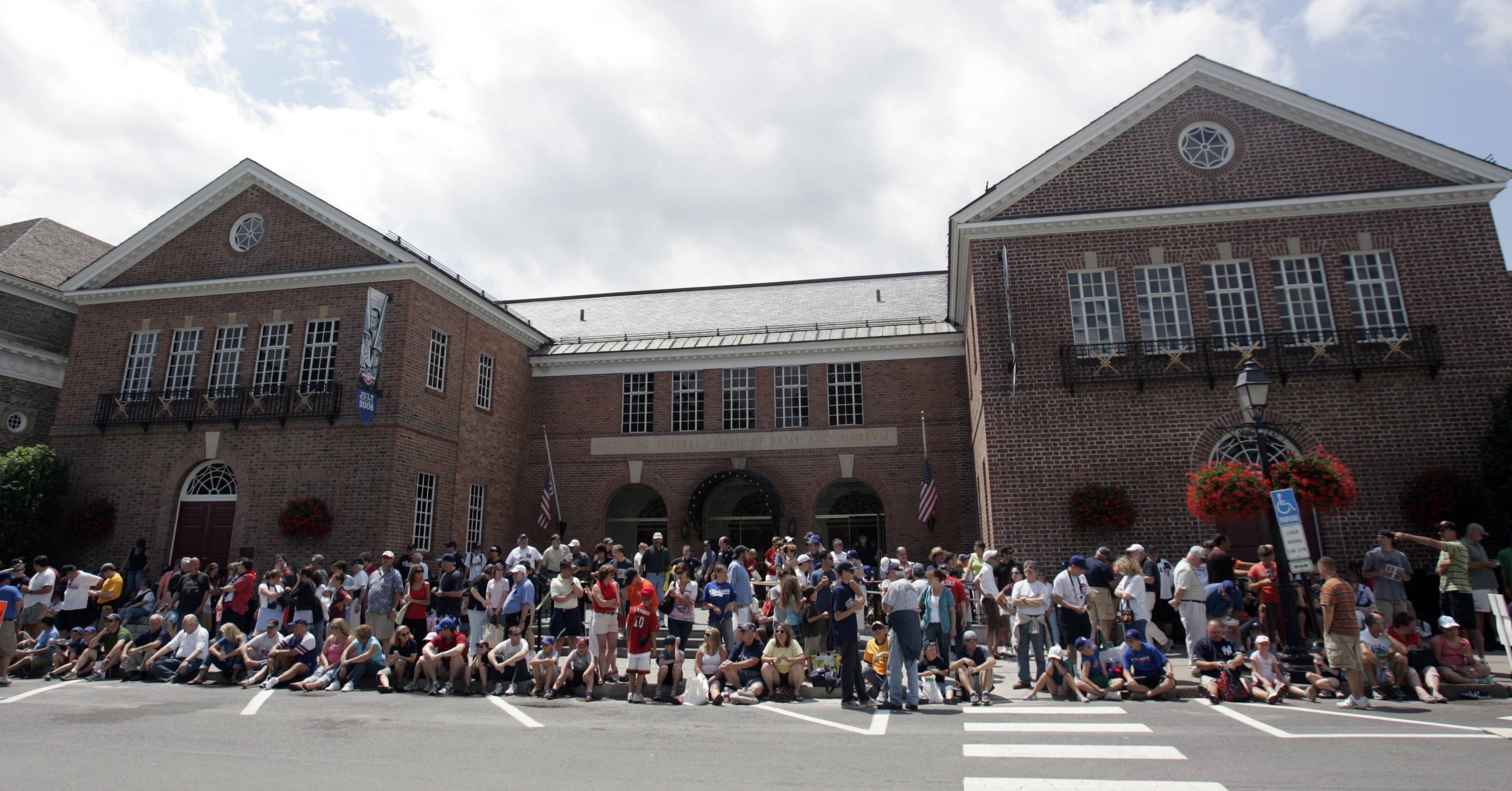 Baseball fans flock to the National Baseball Hall of Fame and Museum in Cooperstown, N.Y.