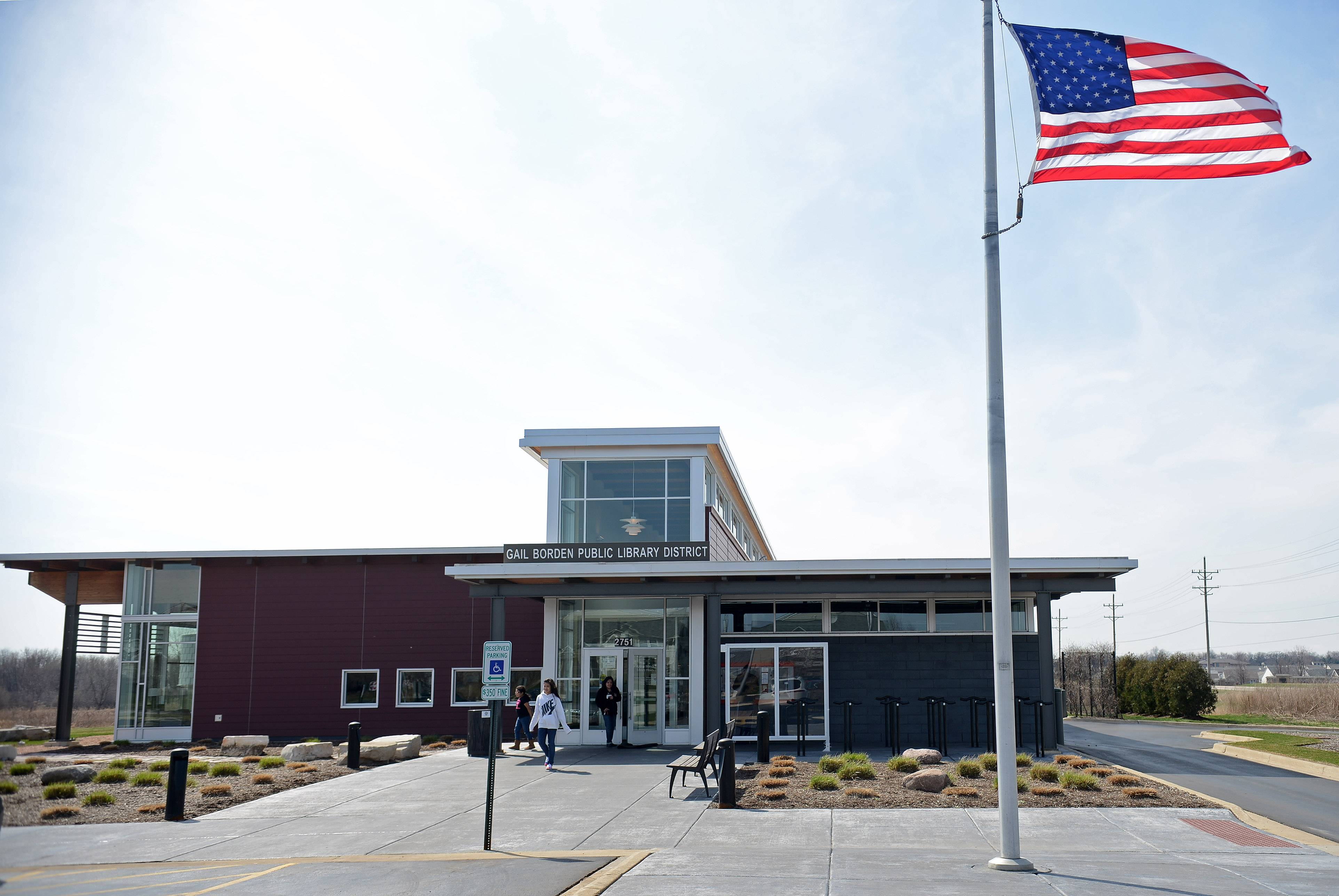 The Gail Borden Public Library board will likely place a referendum question on the November ballot asking residents in unserved areas next to the western edge of the district if they want to become taxpaying district members. Pictured here is the library's Rakow branch at 2751 W. Bowes Road, Elgin.