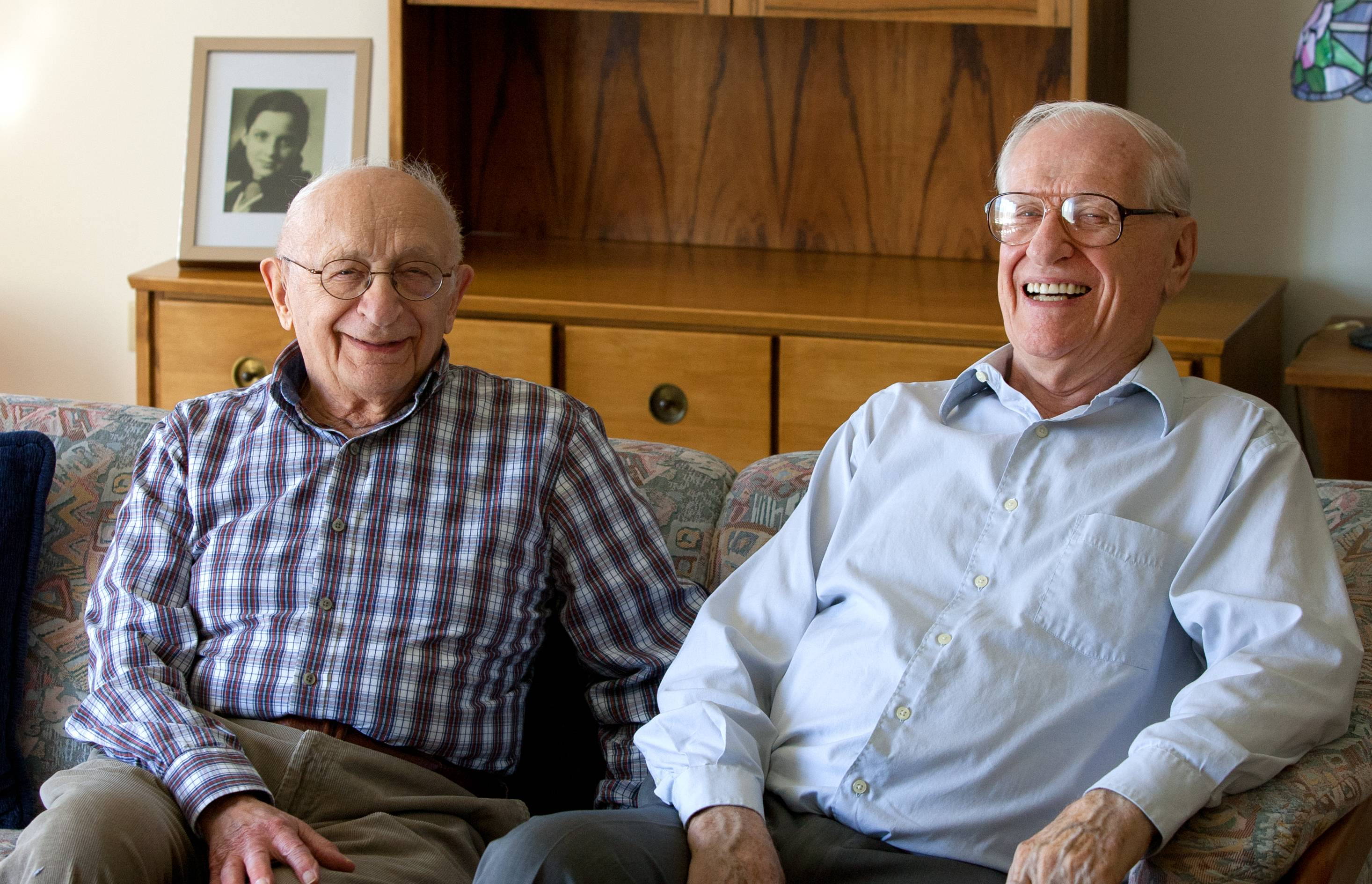 As residents of the Beacon Hill senior community in Lombard, Charles Luner, left, and Eric Blaustein built a friendship around the concentration camp experience shared by Blaustein and Luner's late wife, Gerda.