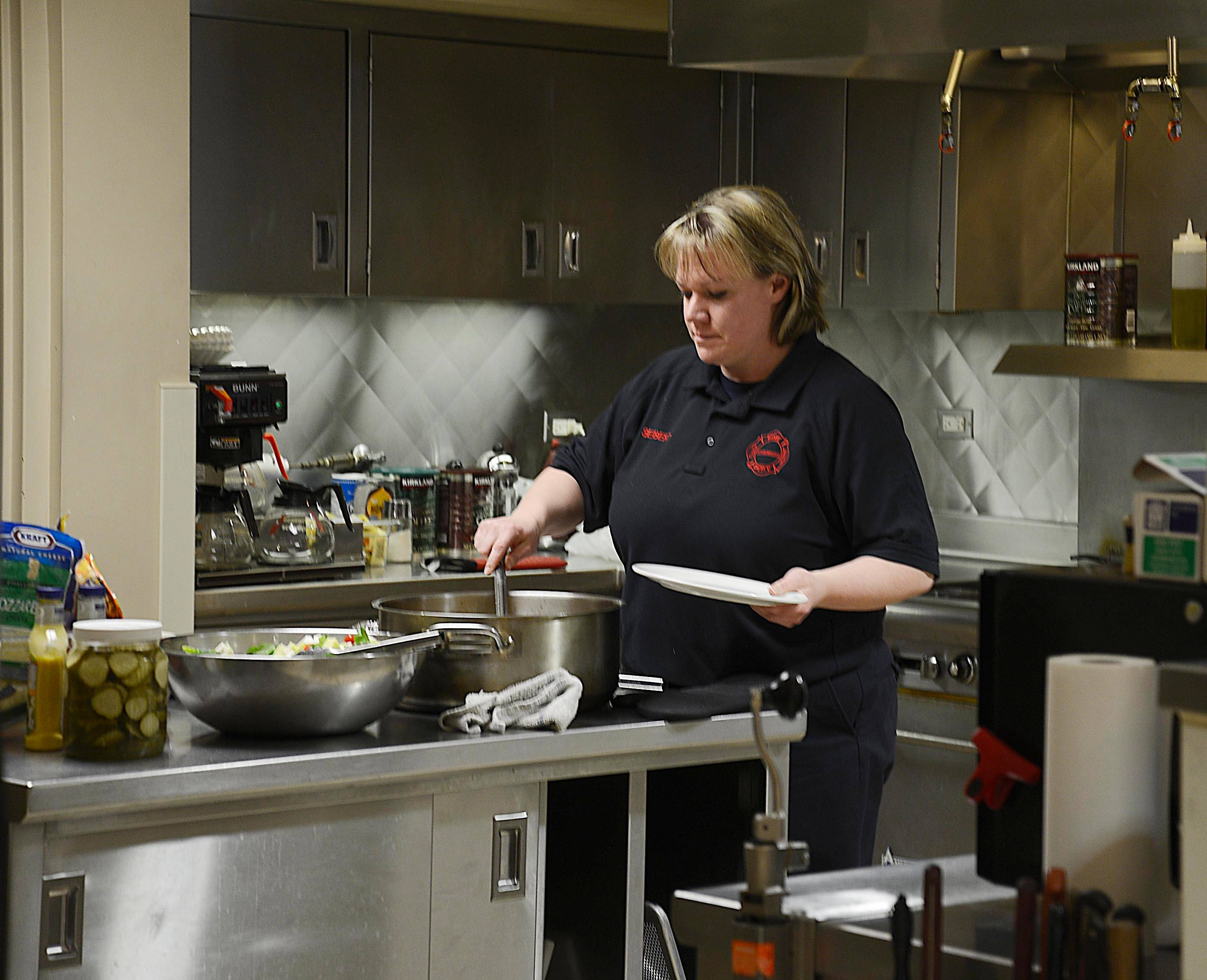 """Being a firefighter,"" Cheryl Seibert says, ""I don't always eat meals at a reasonable time."""