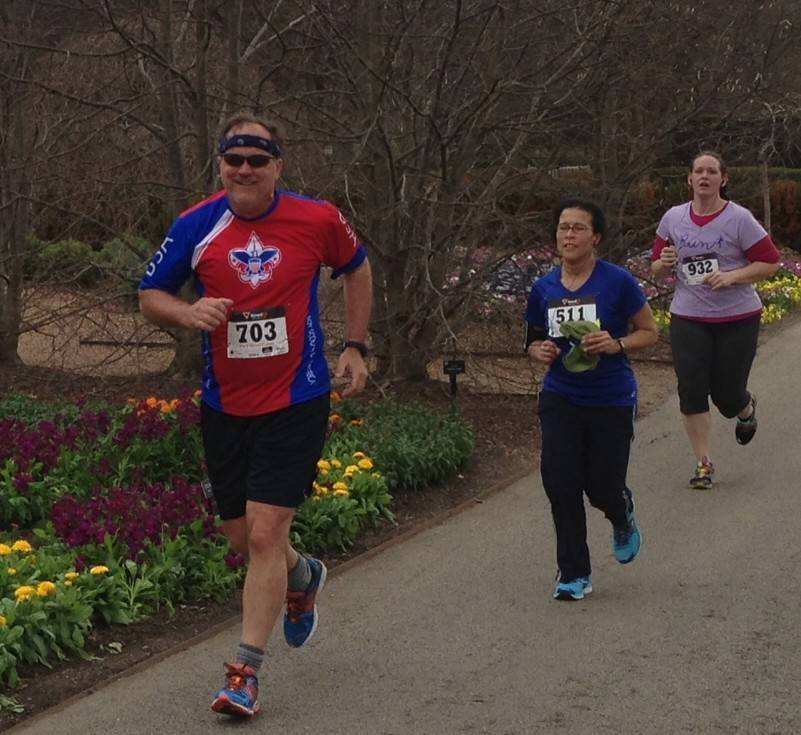 Wayne Oates, a member of Elk Grove Village's Team Fit, participated in the Foodie 5K.