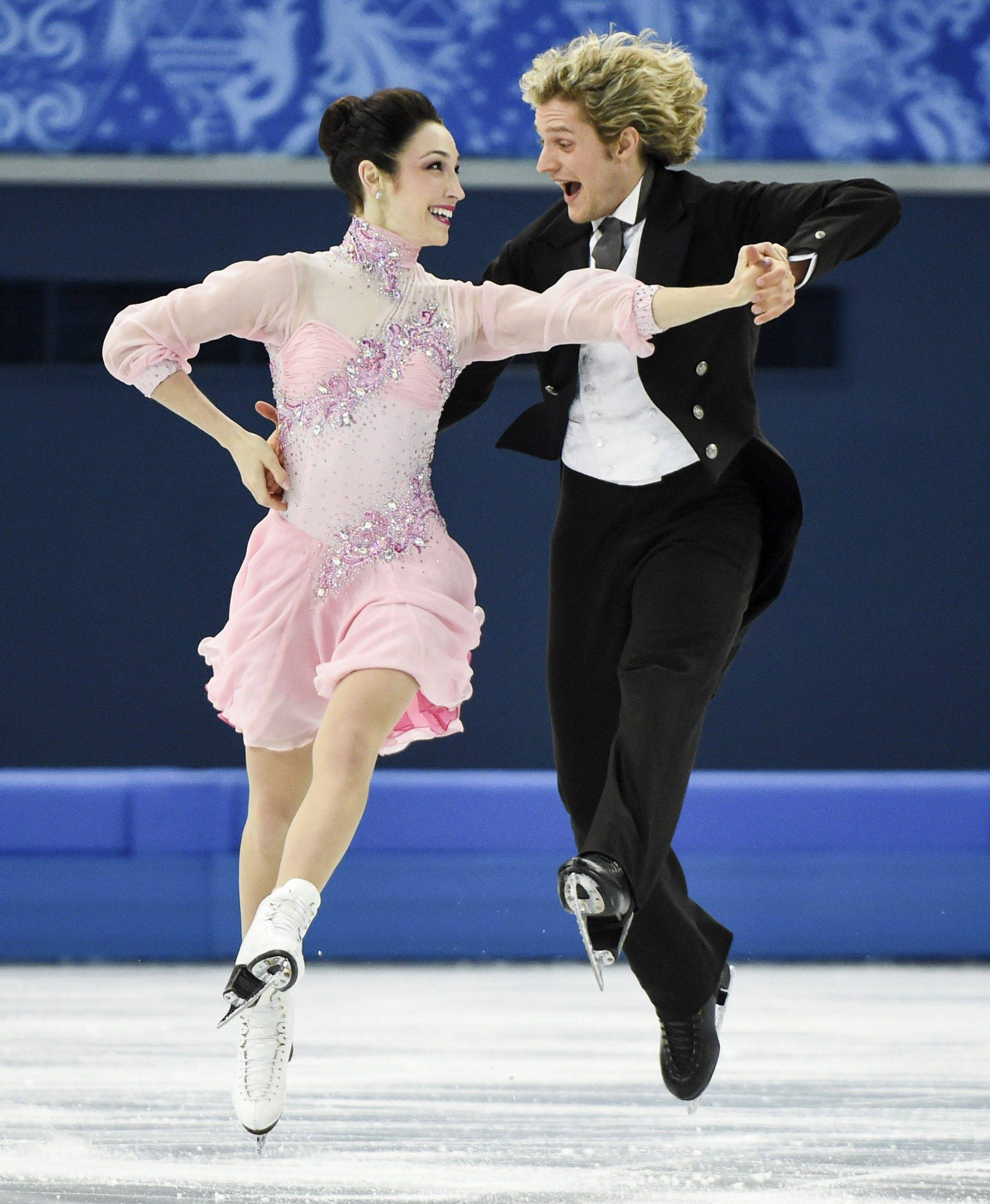"Olympic gold medal ice dancers Meryl Davis and Charlie White of the United States appear in ""Stars on Ice"" on Saturday, May 3, at the Allstate Arena in Rosemont."