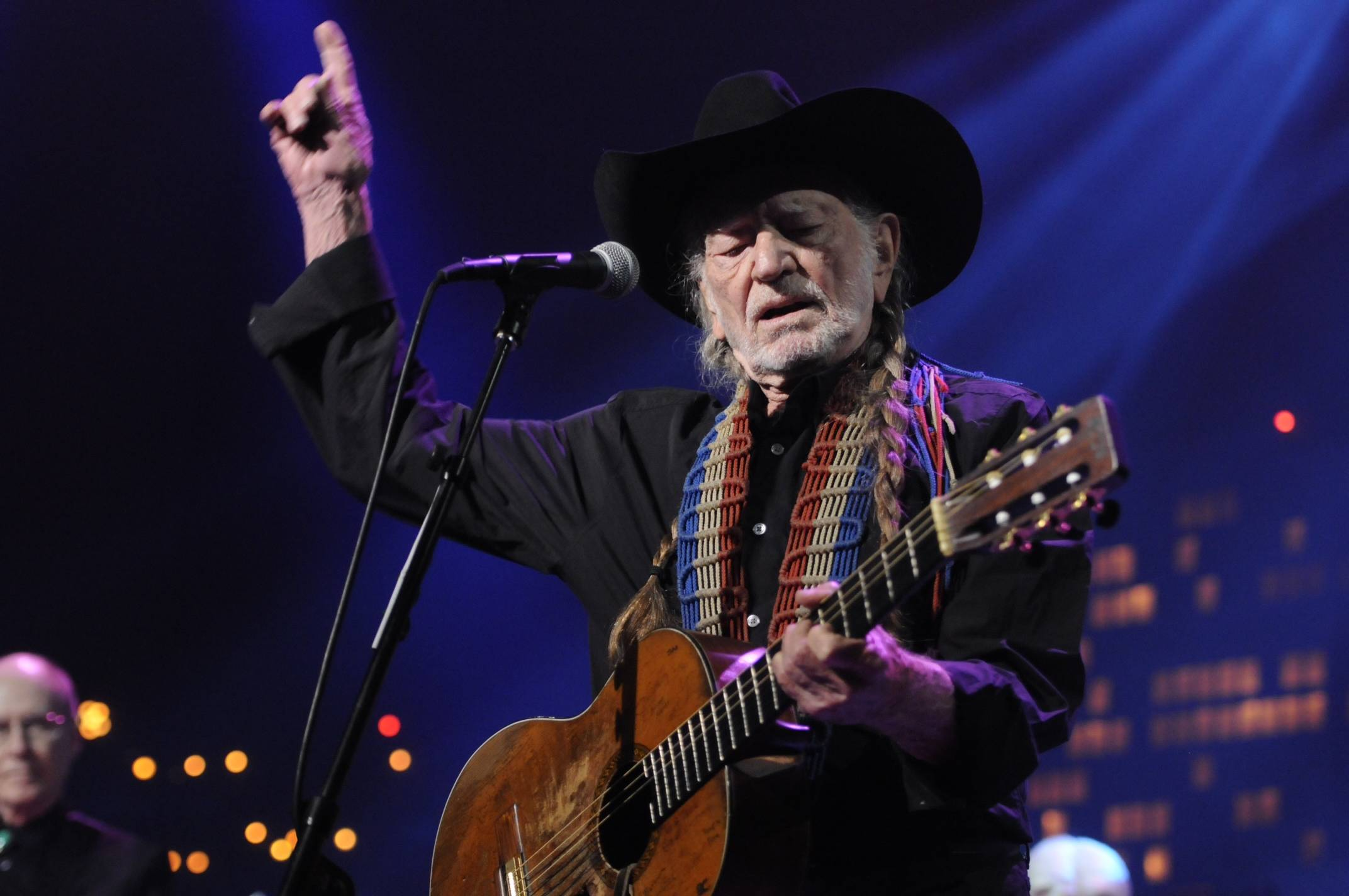 Willie Nelson performs during the Austin City Limits Hall of Fame show on Saturday. Nelson, who will celebrate his 81st birthday next week by receiving his fifth-degree black belt in martial arts, was the first Austin City Limits performer in 1974 on what is now the longest-running television music program in the U.S.