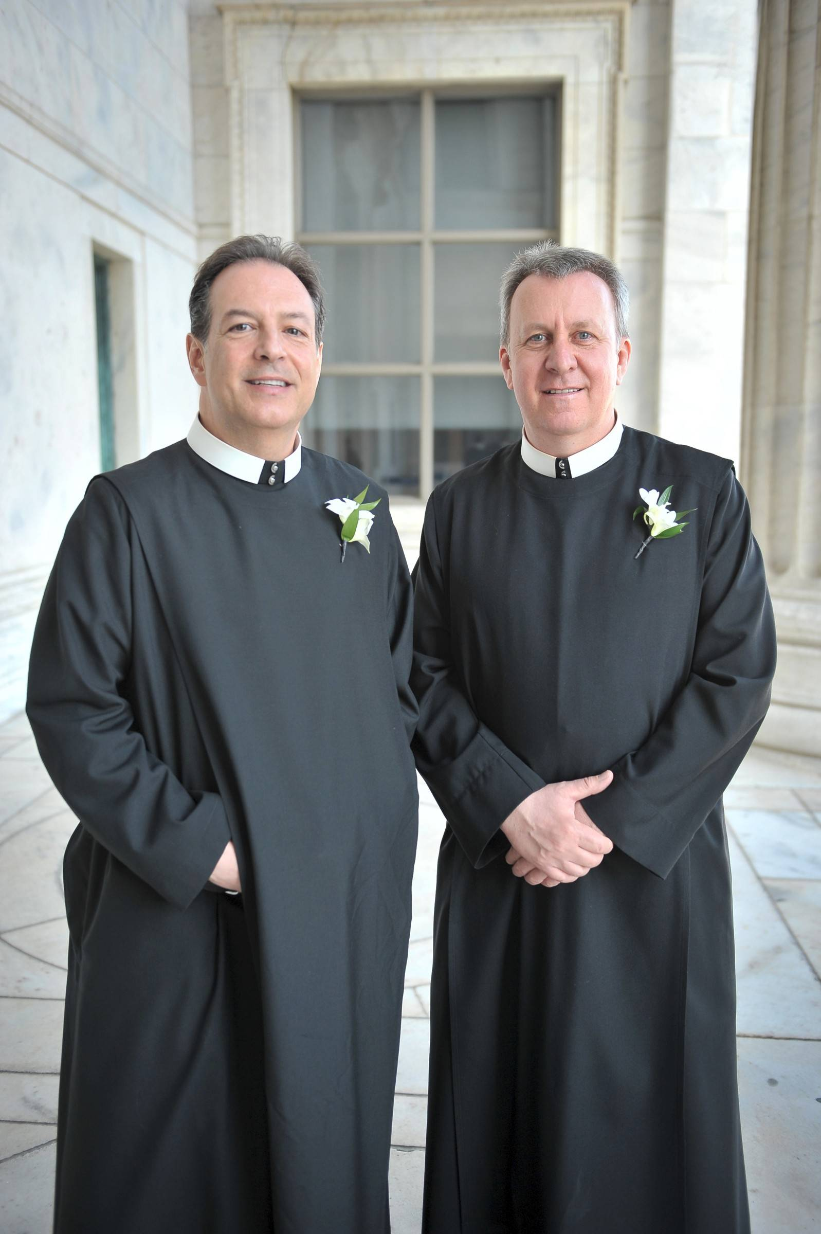 Brothers Thomas Klein and Paul Magner, at the Alexian Brothers' Ball de Fleur fundraising event Saturday night at the Field Museum, came to their vocations later in life.