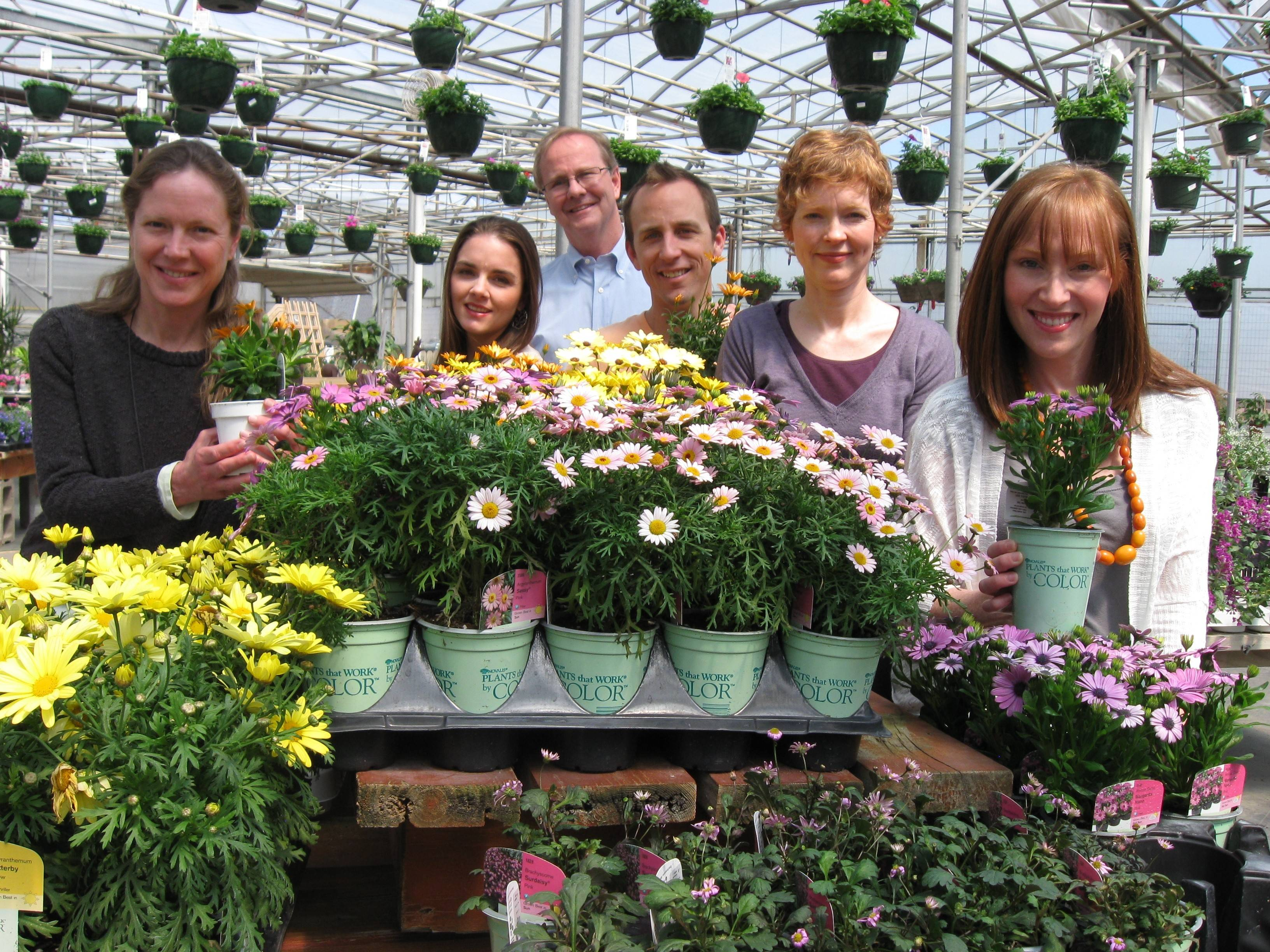 "A group from the St. Charles Singers drops by Heinz Brothers Greenhouse Garden Center in St. Charles to promote their ""Bouquet of Voices"" concerts this month in St. Charles and River Forest. From left are Jennifer Hunt, AnDrea James, and Jeffrey Hunt, all of St. Charles; Andy Jeffrey of Geneva; Cynthia Spiegel of La Fox; and Kate Jeffrey of Geneva."