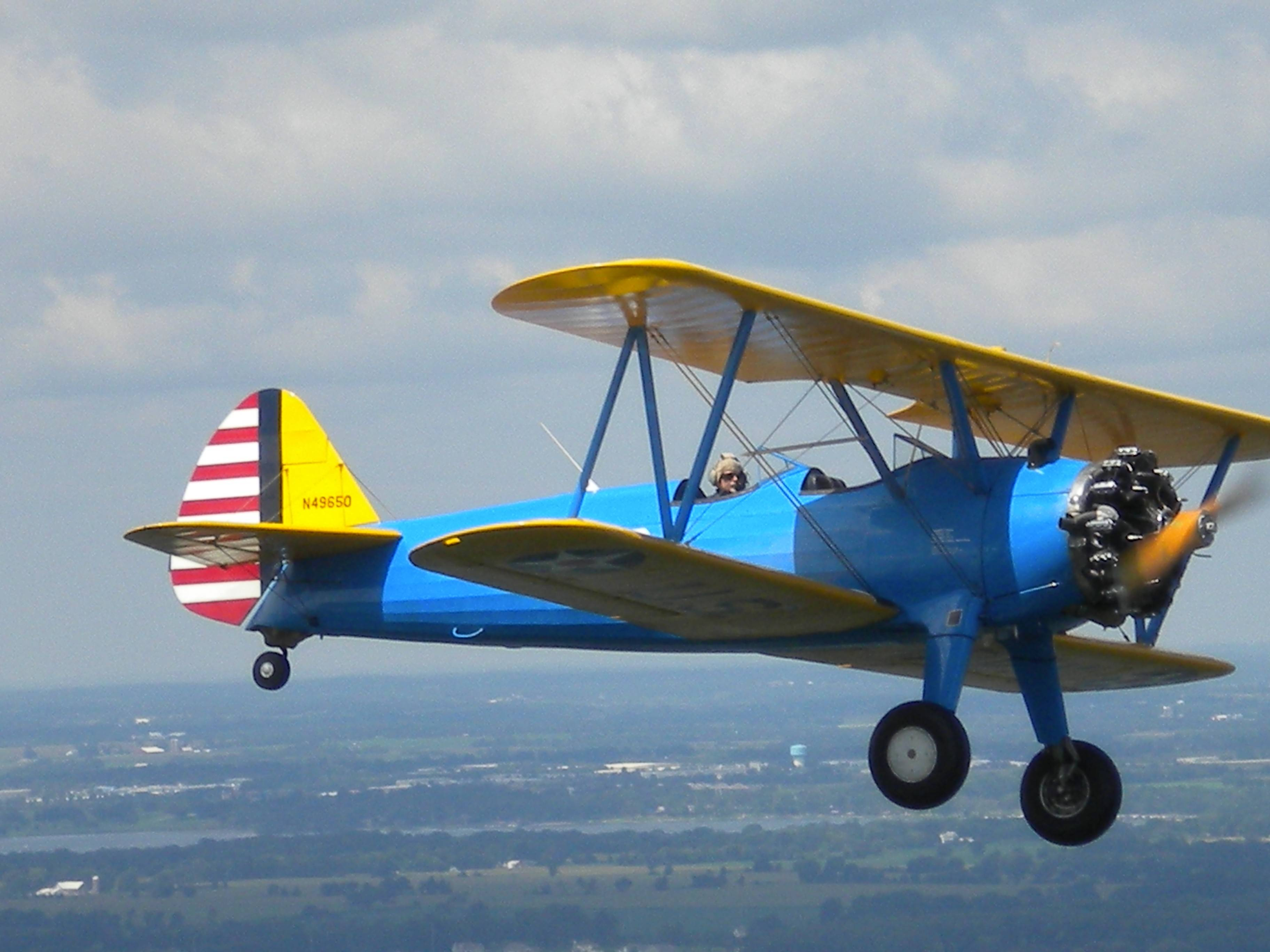 "The Boeing Stearman, also known as the ""Kaydet,"" was primarily used as a military trainer aircraft throughout World War II. Chicago attorney David Hall will have his 1942 Stearman PT-17 at the DuPage Veterans Foundation's 2014 benefit for Honor Flight Chicago."