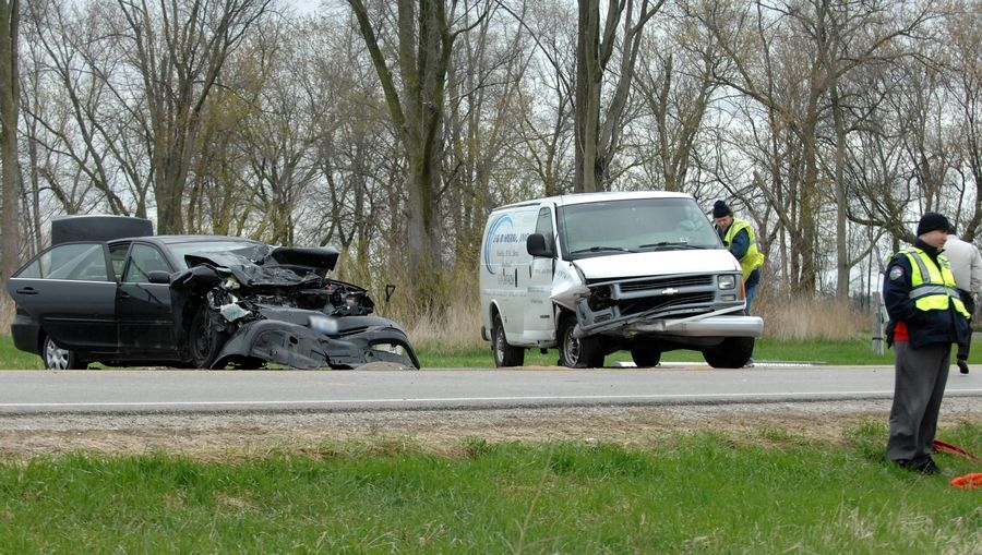 The 68-year-old Elburn man driving the 2002 Toyota Camry was killed in a two-car accident on Keslinger Road just west of Harley Road about 7:30 a.m. Monday.