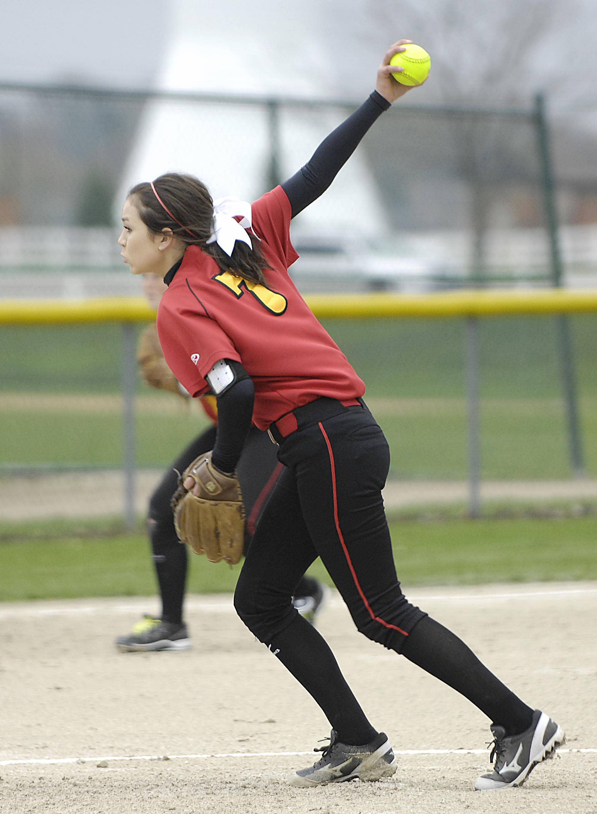 Batavia pitcher Rachael Lovestrand works against Streamwood Monday in Batavia.