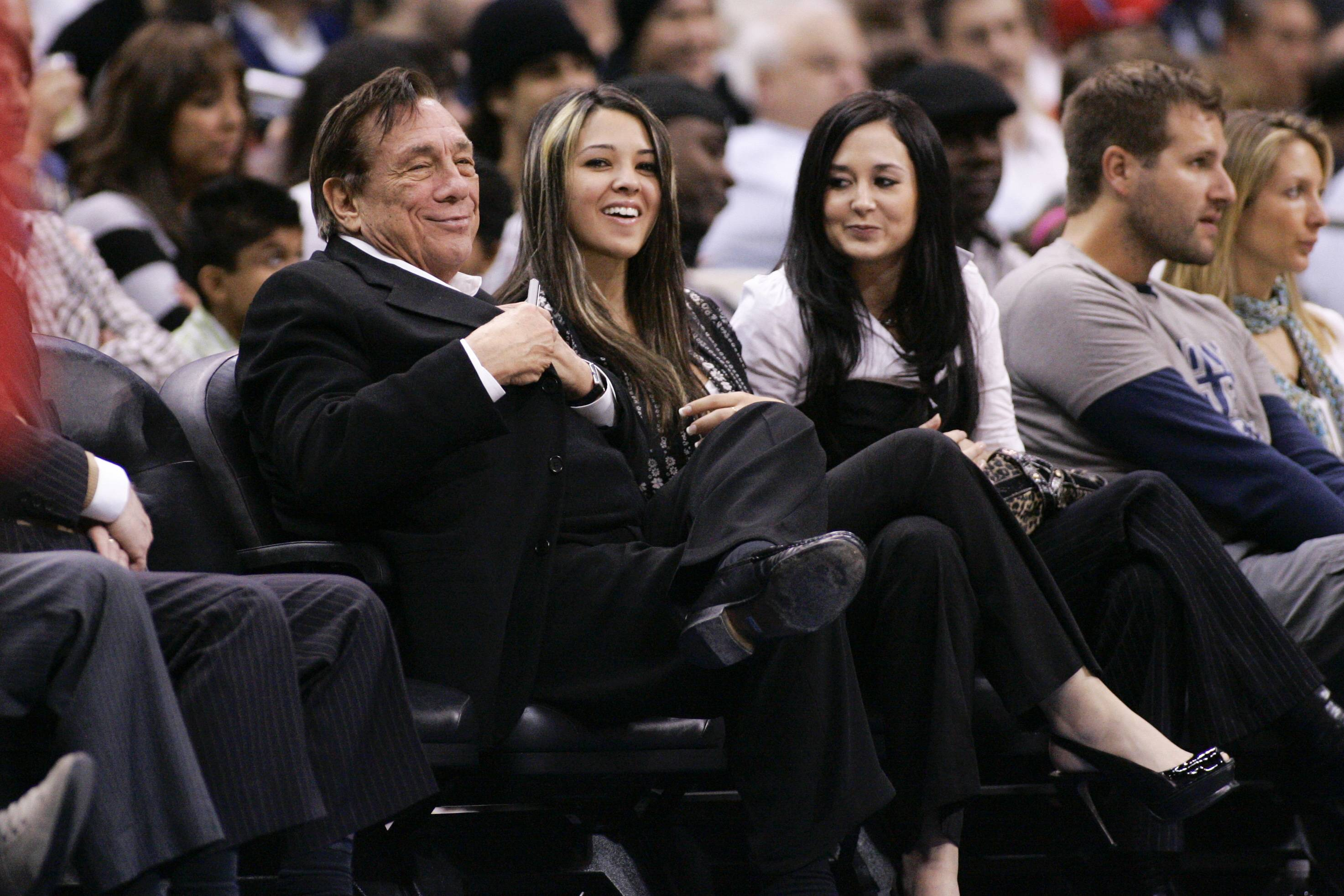 Los Angeles Clippers owner Donald Sterling attends the NBA basketball game between the San Antonio Spurs and Los Angeles Clippers in Los Angeles on Monday, March 2, 2009.