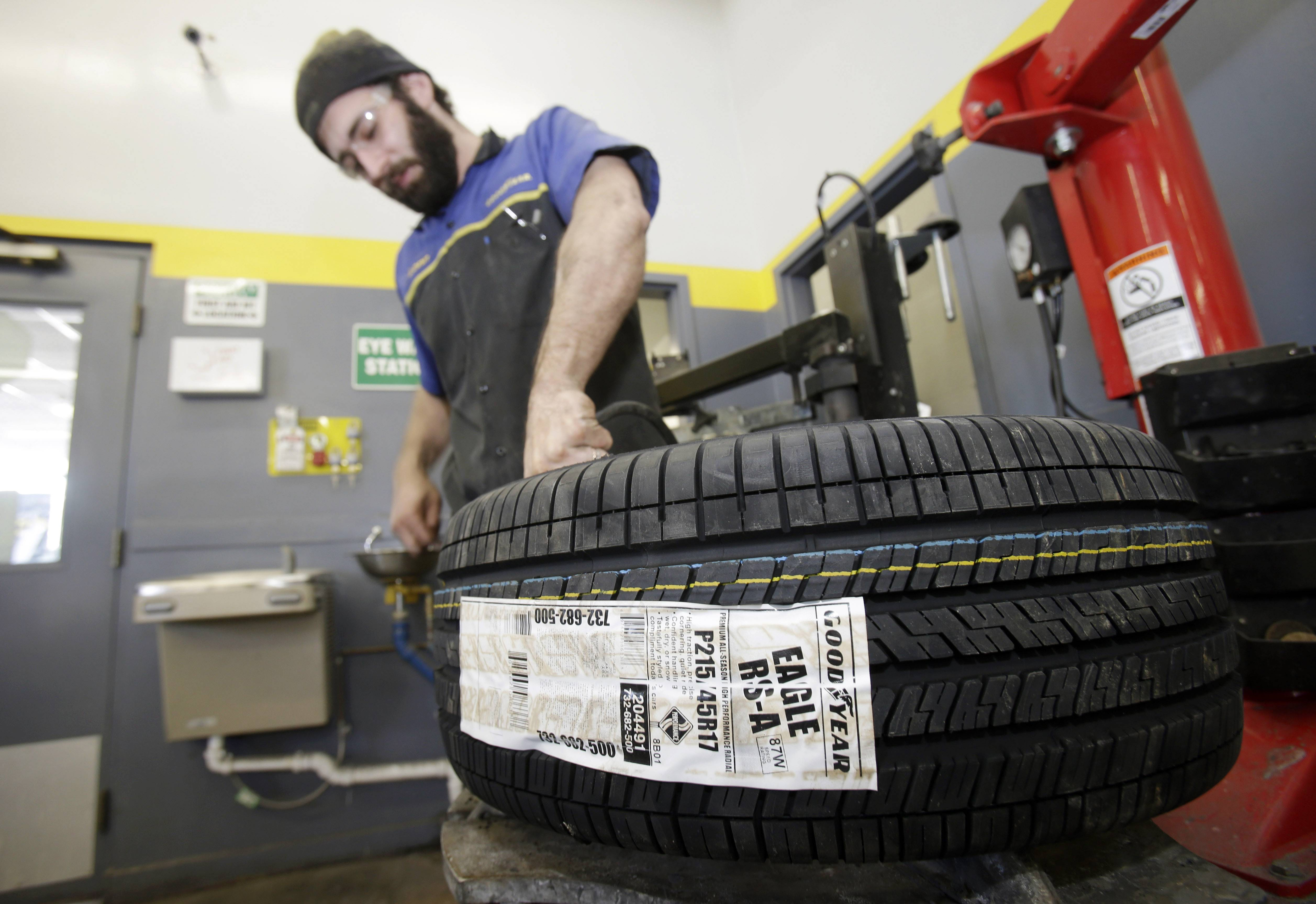 Goodyear reported a $58 million loss for the first quarter largely due to Venezuelan currency charges. The loss was compounded by the extreme winter weather across the U.S. that hurt tire sales, the company said.