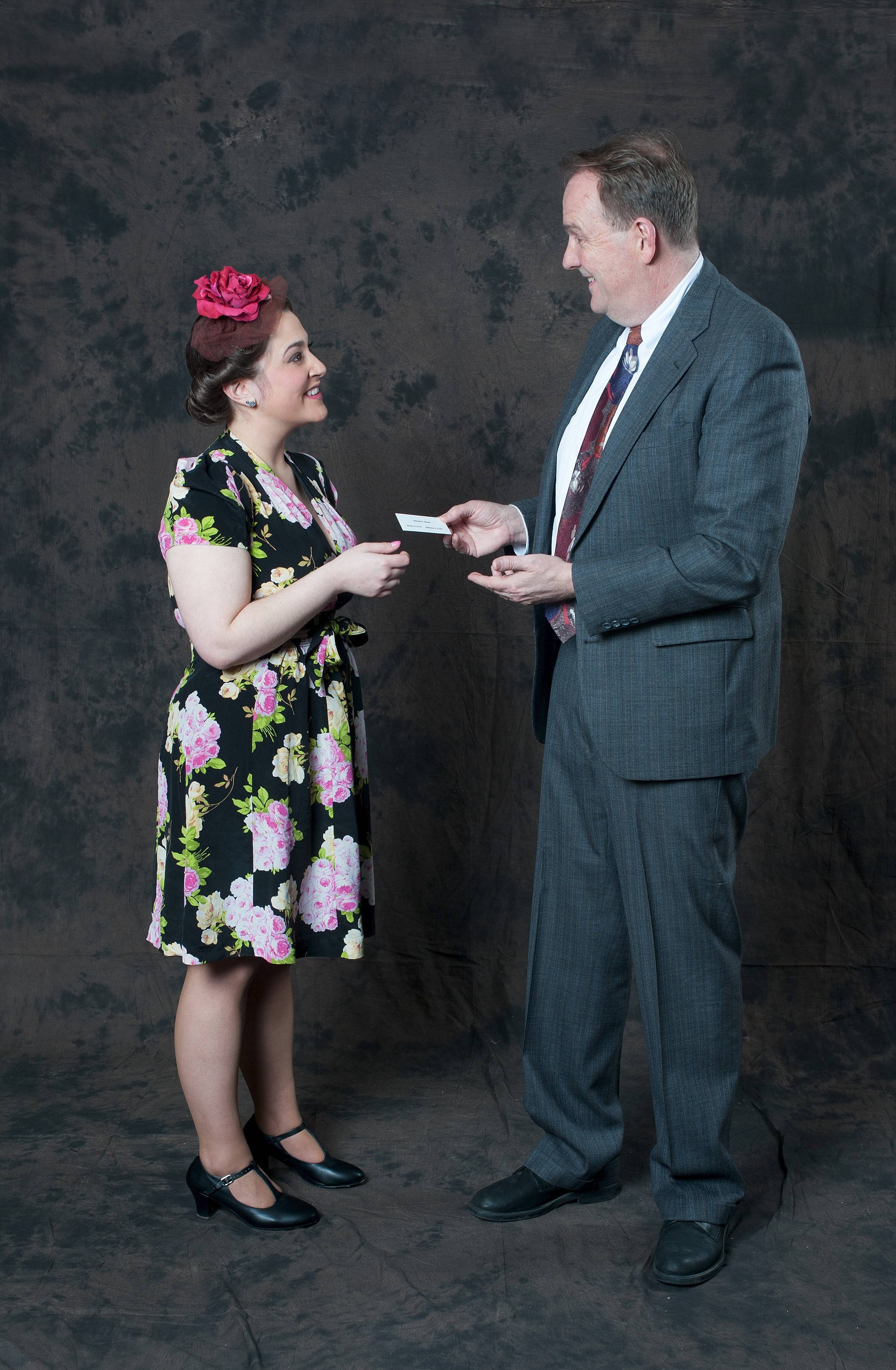 "Vicky Giannini plays Verta and Chuck Jacobson is Elwood P. Dowd in the GreenMan Theatre production of ""Harvey"" that opens Friday in Elmhurst."