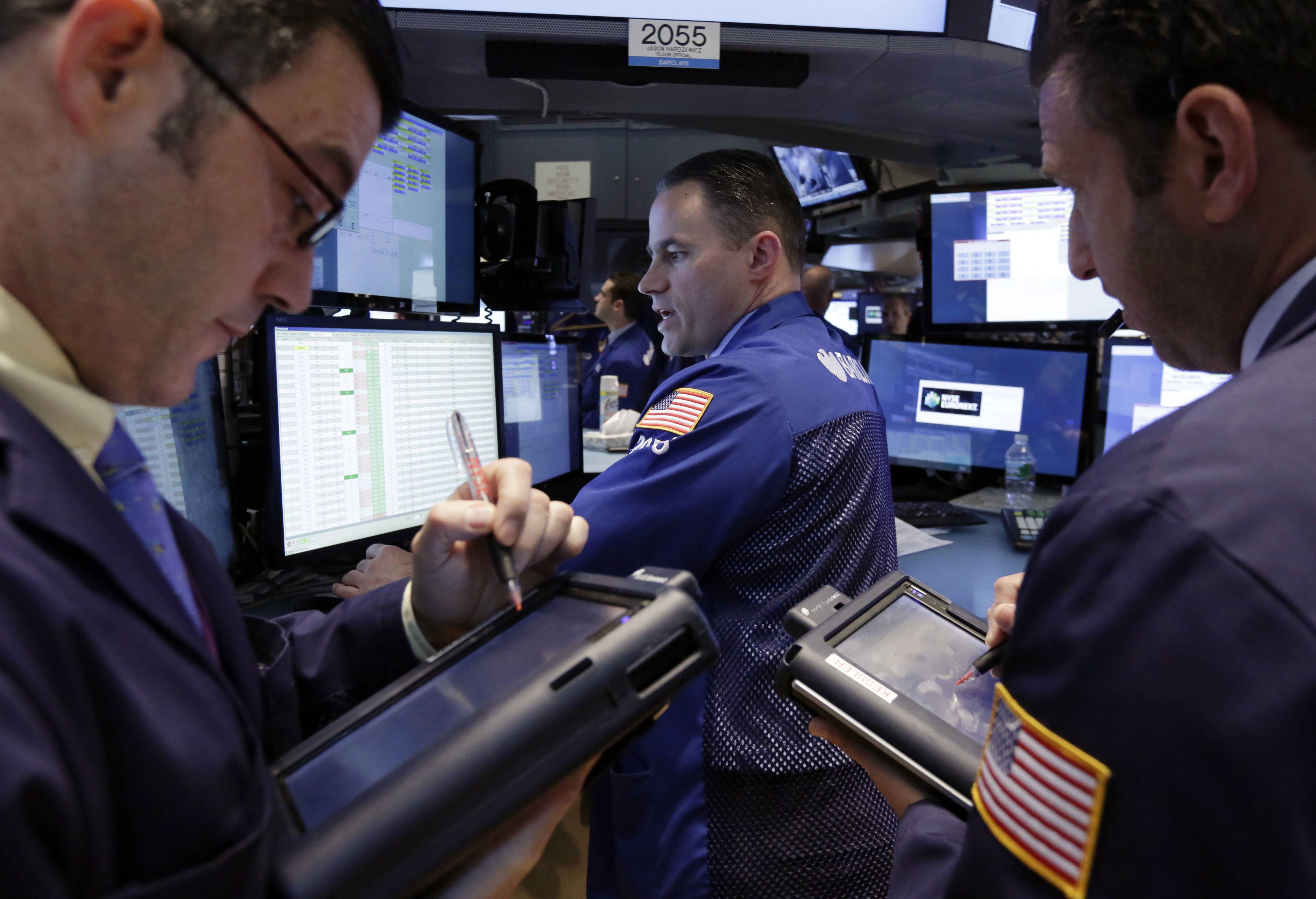 U.S. stocks rose Tuesday, as Internet stocks rallied for the first time in five days and results from Merck to Sprint topped estimates before a Federal Reserve decision on monetary policy.
