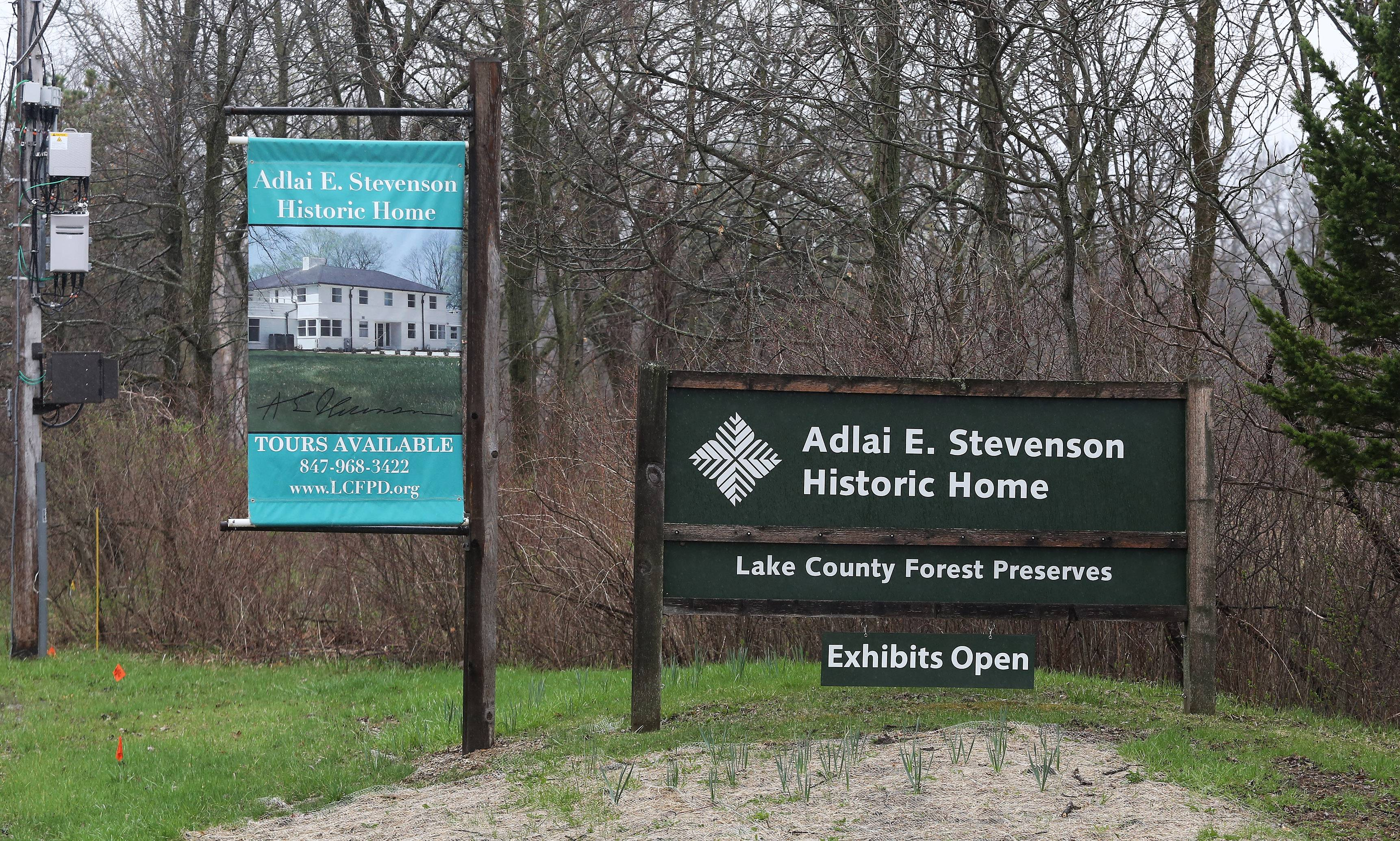 The Adlai E. Stevenson II Historic Home in Mettawa has been named a national historic landmark by the National Park Service.