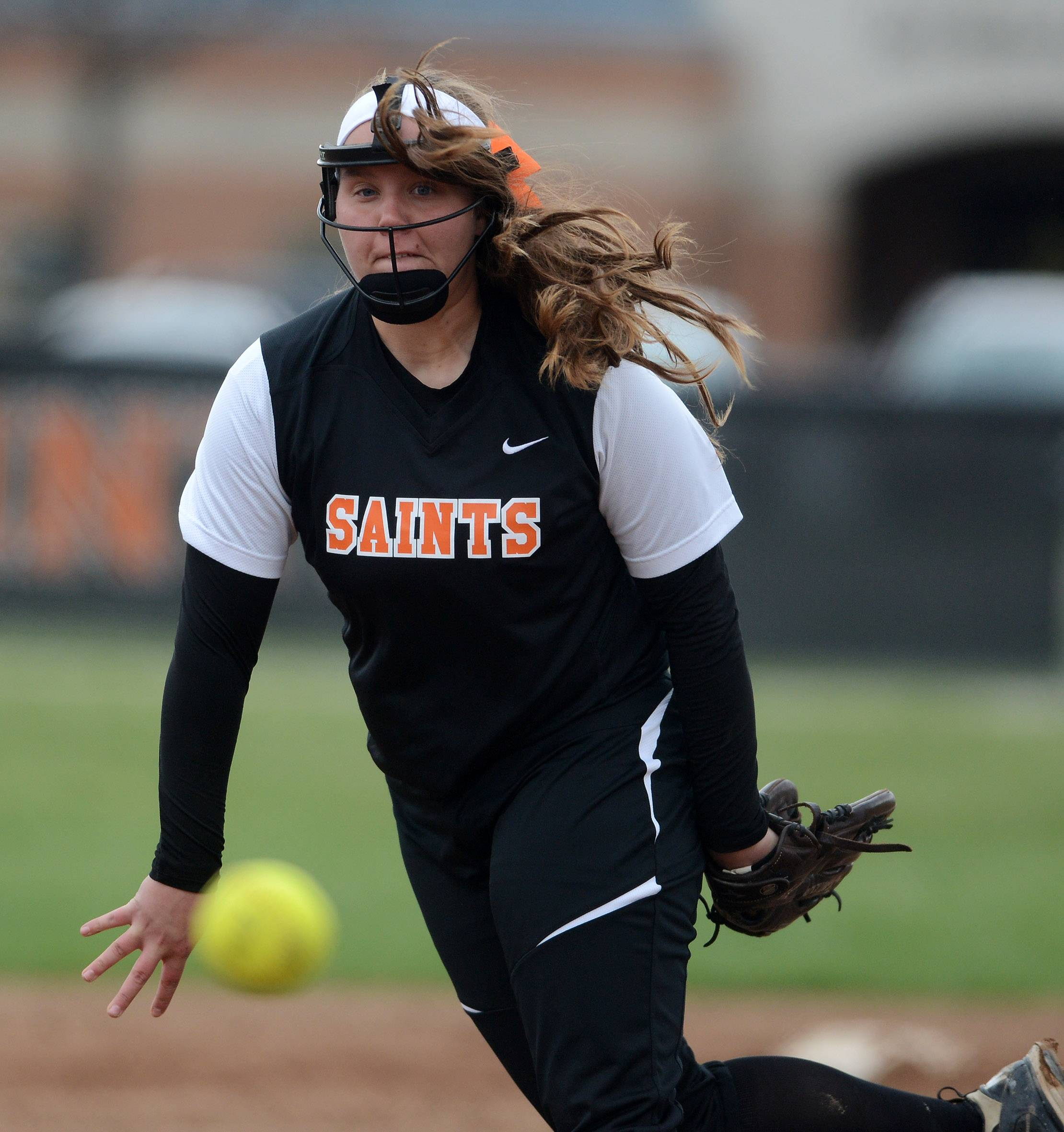 St. Charles East's Haley Beno delivers a pitch during Tuesday's game in St. Charles.