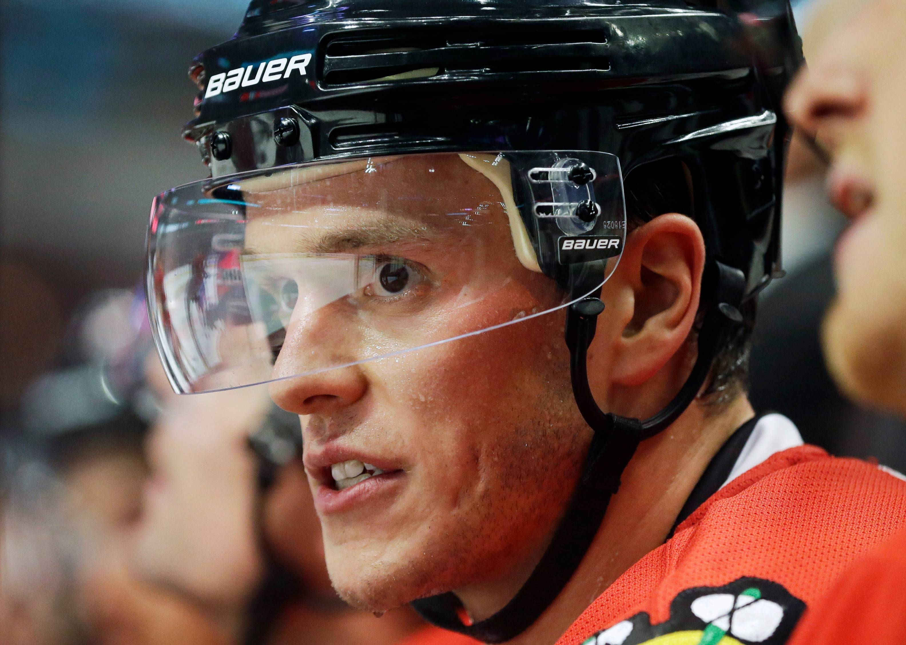 Chicago Blackhawks captain Jonathan Toews is a finalist for the Mark Messier Leadership Award, which is given by NHL officials to the best leader on and off the ice.