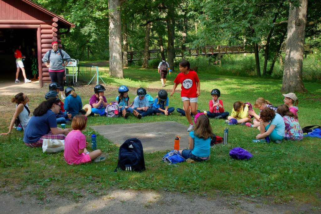 Girls play games at Girl Scout Camp Dean in Big Rock, Ill. Girl Scouts of Northern Illinois will host camp open houses for prospective campers May 3-4.
