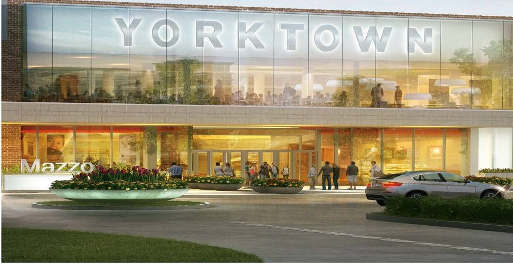 This rendering shows what the new entrance to Lombard's Yorktown Center will look like. The center is celebrating $20 million in renovations to its food court, center court and main entrance during a ribbon-cutting ceremony Friday.