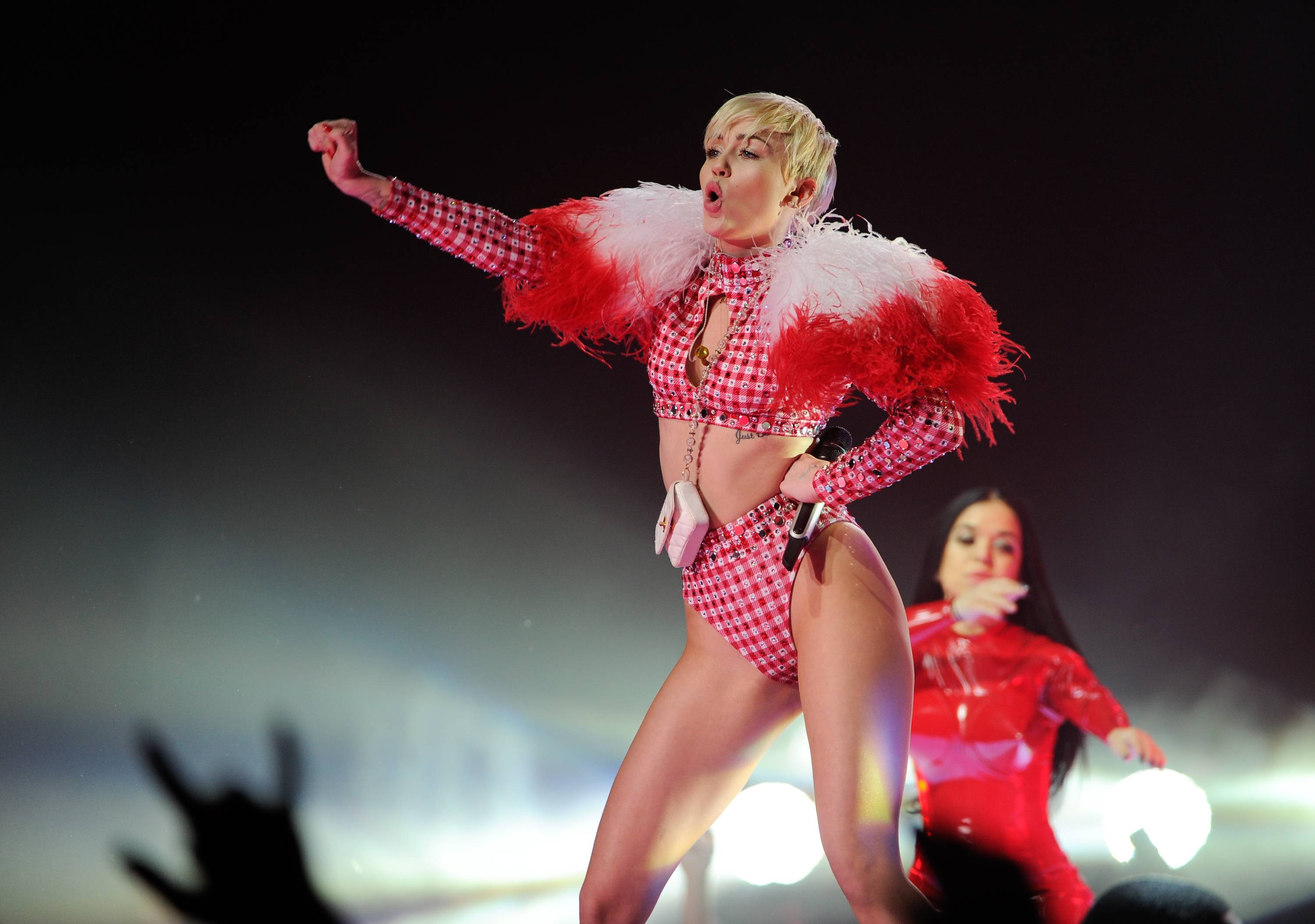 "Miley Cyrus' May 2 date in Amsterdam and May 4 appearance in Antwerp, Belgium, on her ""Bangerz"" tour have been pushed back to June. A Wednesday news release says Cyrus' symptoms from a severe allergic reaction to antibiotics have returned and doctors will not allow her to travel."
