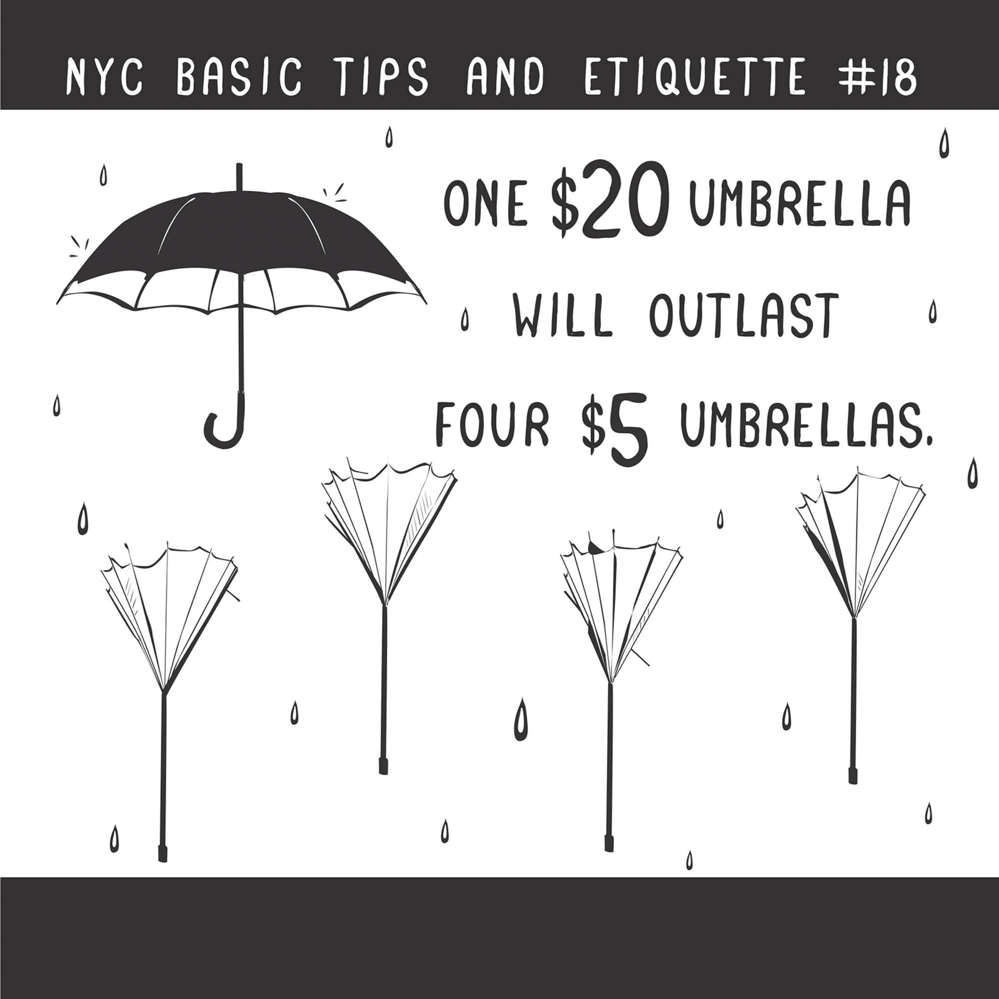 "Nathan Pyle gives a humorous take on the do's and don'ts of life in New York in ""NYC Basic Tips and Etiquette."""