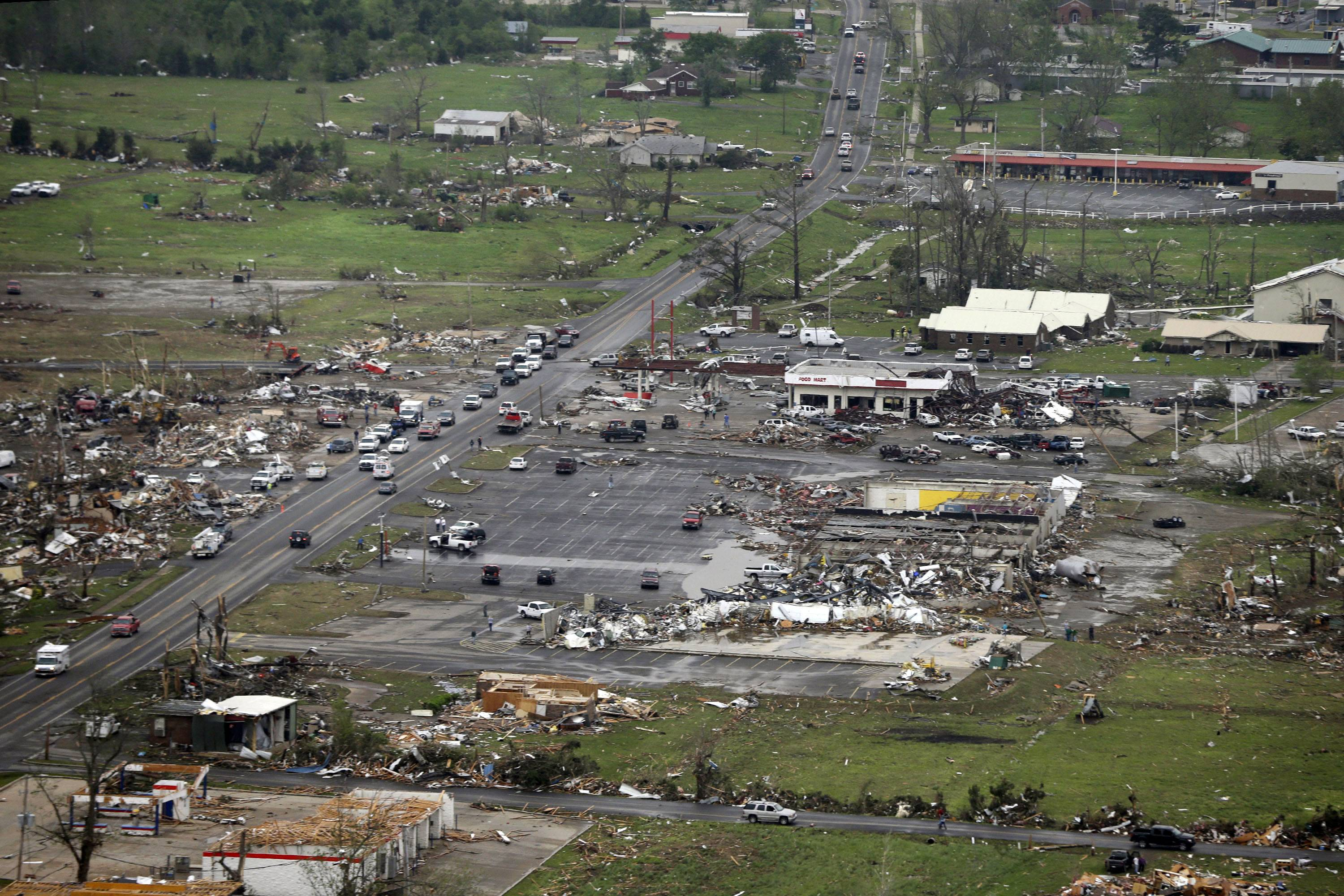 A tornado hit Vilonia, Ark., earlier this week, the second time it was hit in three years. Four people were killed in a 2011 storm. Until this late April 2014 outbreak, the U.S. as a whole had by far the quietest start of the year for tornadoes. Longer trends show more tornado clusters recently.