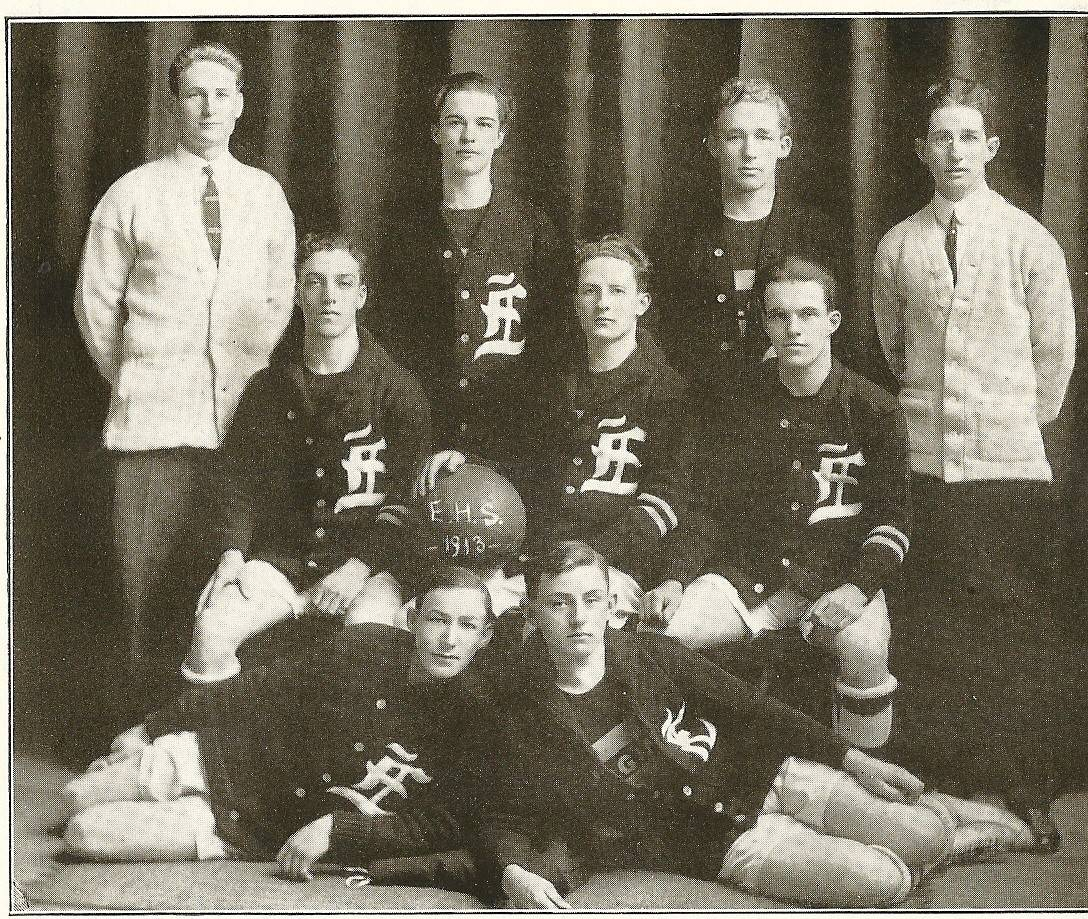 Members of the Elgin High School basketball team of 1914 were warned by their coach to make a choice between playing on the team or going to dances.