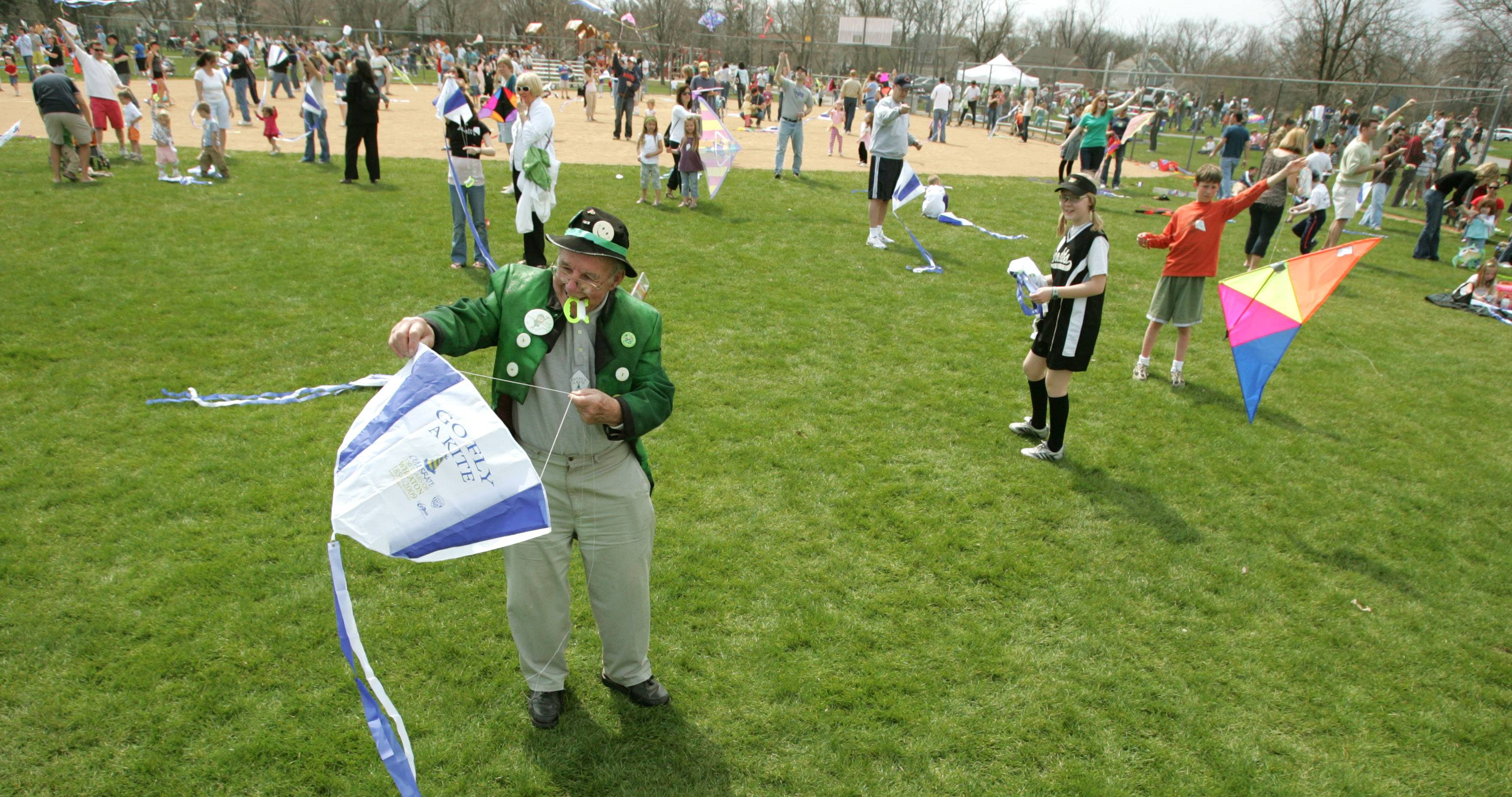 The annual Go Fly a Kite event in Wheaton will include a grand launch at 11 a.m., when all the participants will fly their kites at the same time.